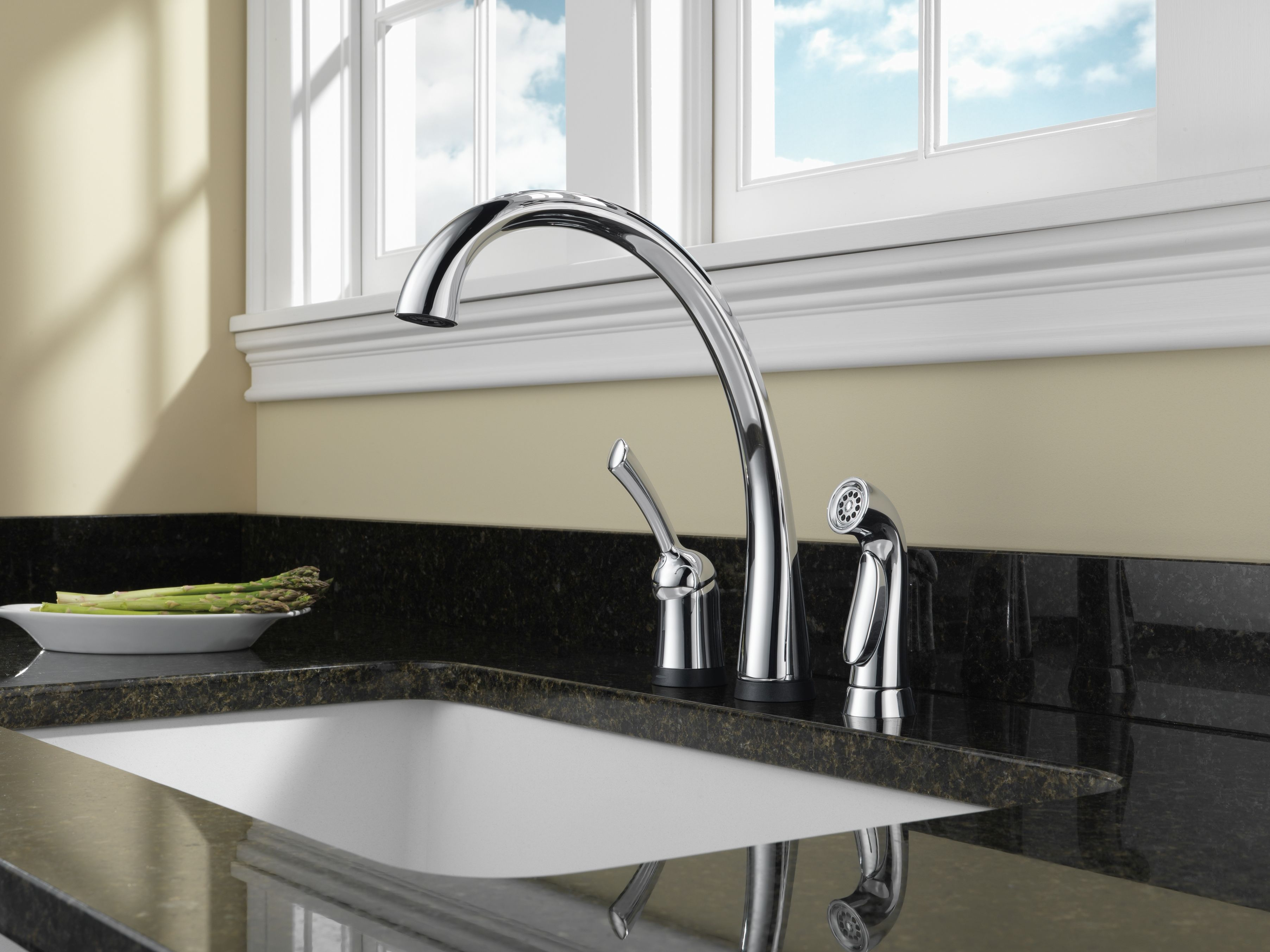 Delta 4380T-AR-DST-LEGACY 4380T-AR-DST Pilar Kitchen Faucet with On ...