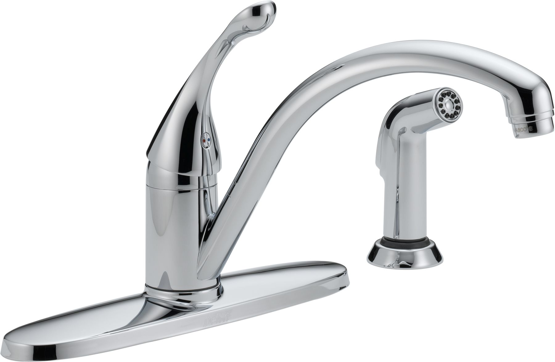 Delta 440-SS-DST Brilliance Stainless Collins Kitchen Faucet with ...
