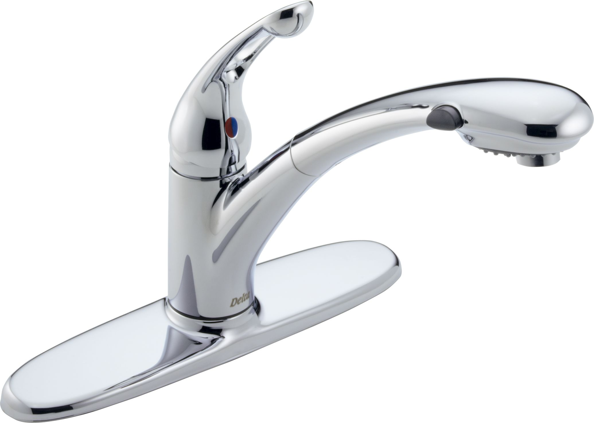 Delta 472-DST Chrome Signature Pull-Out Kitchen Faucet - Includes ...