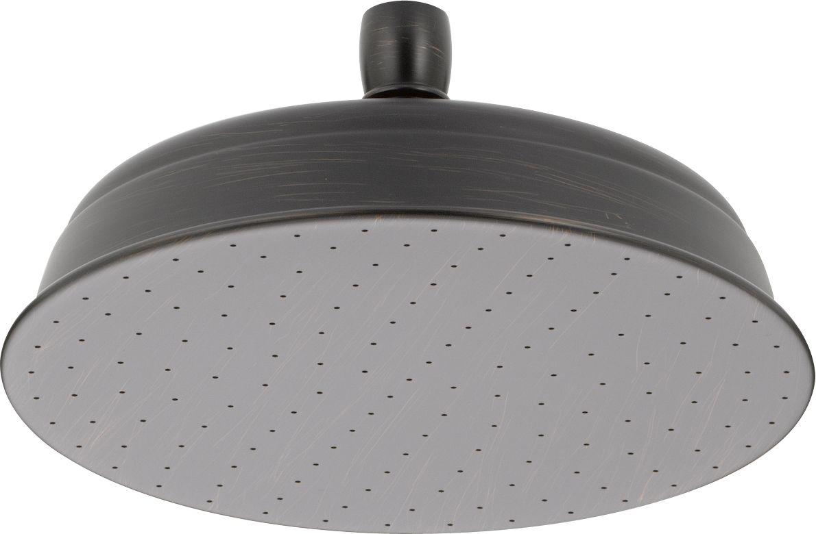 Delta 52682 Rb Venetian Bronze 2 5 Gpm Contemporary 8 3 4 Wide Rain Shower Head Touch Clean Reg Limited Lifetime Warranty Faucet Com