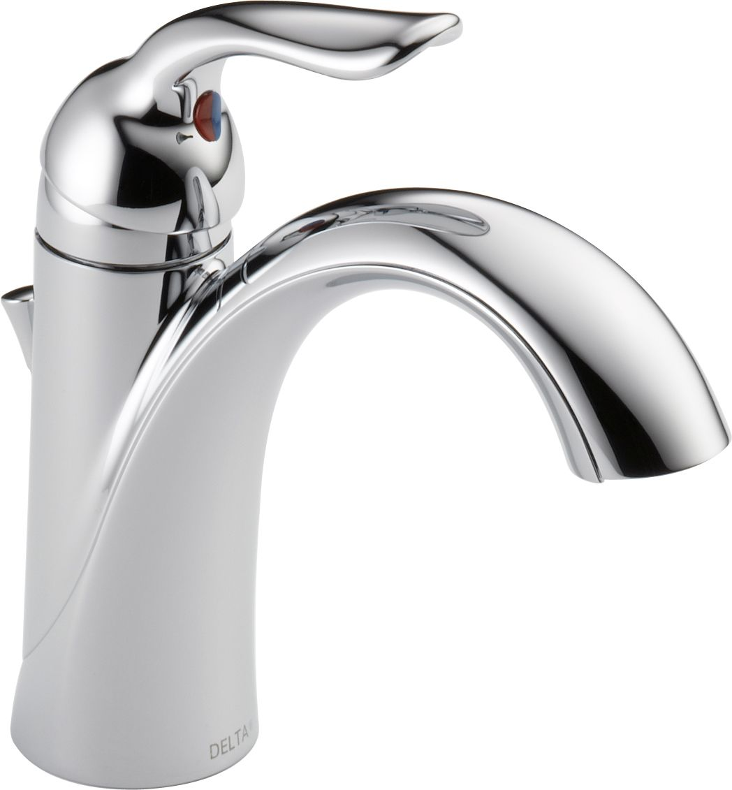 Delta 538-MPU-DST Chrome Lahara Single Hole Bathroom Faucet with Pop ...