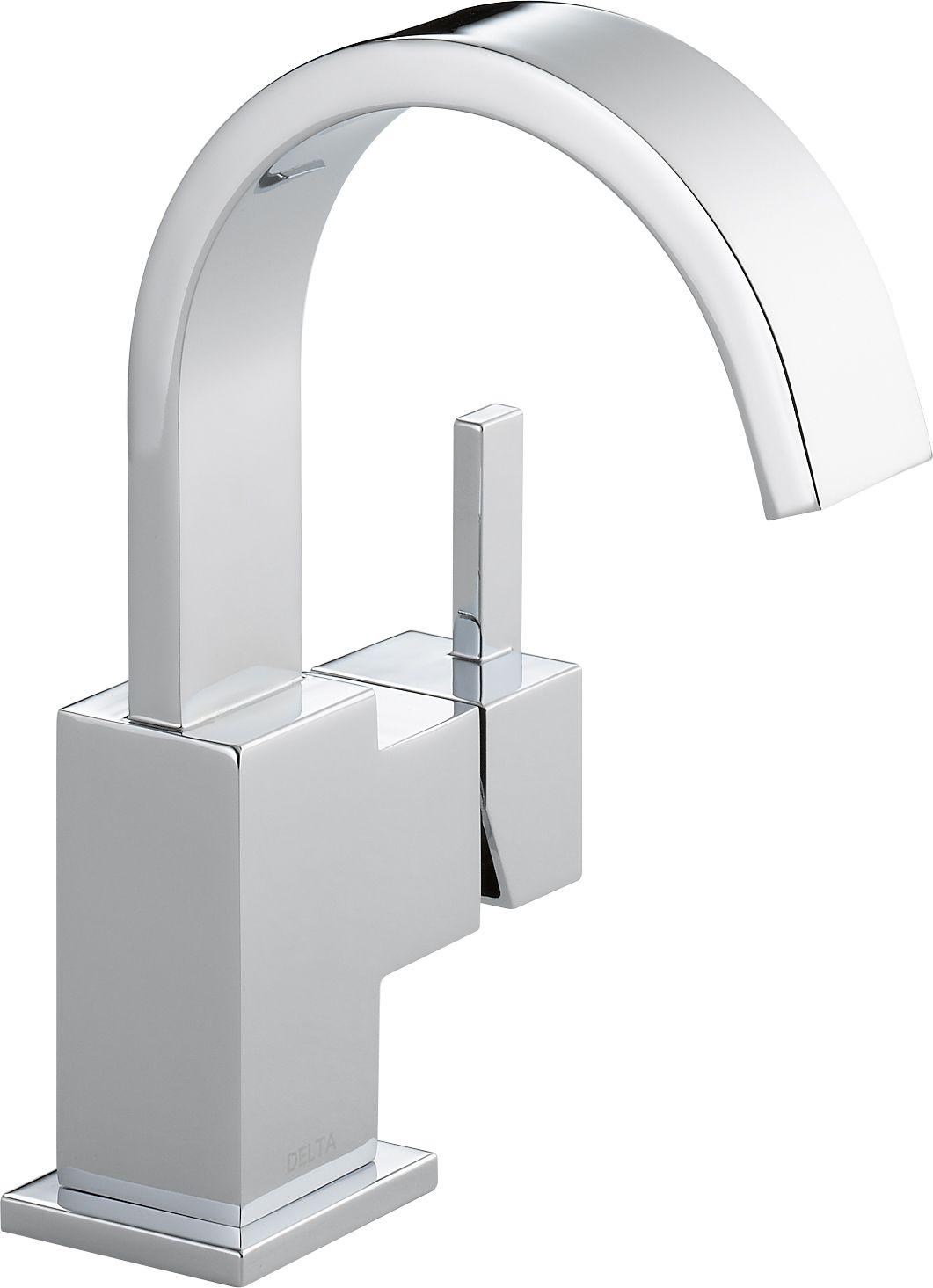 Delta 553LF-CZ Champagne Bronze Vero Single Hole Bathroom Faucet ...