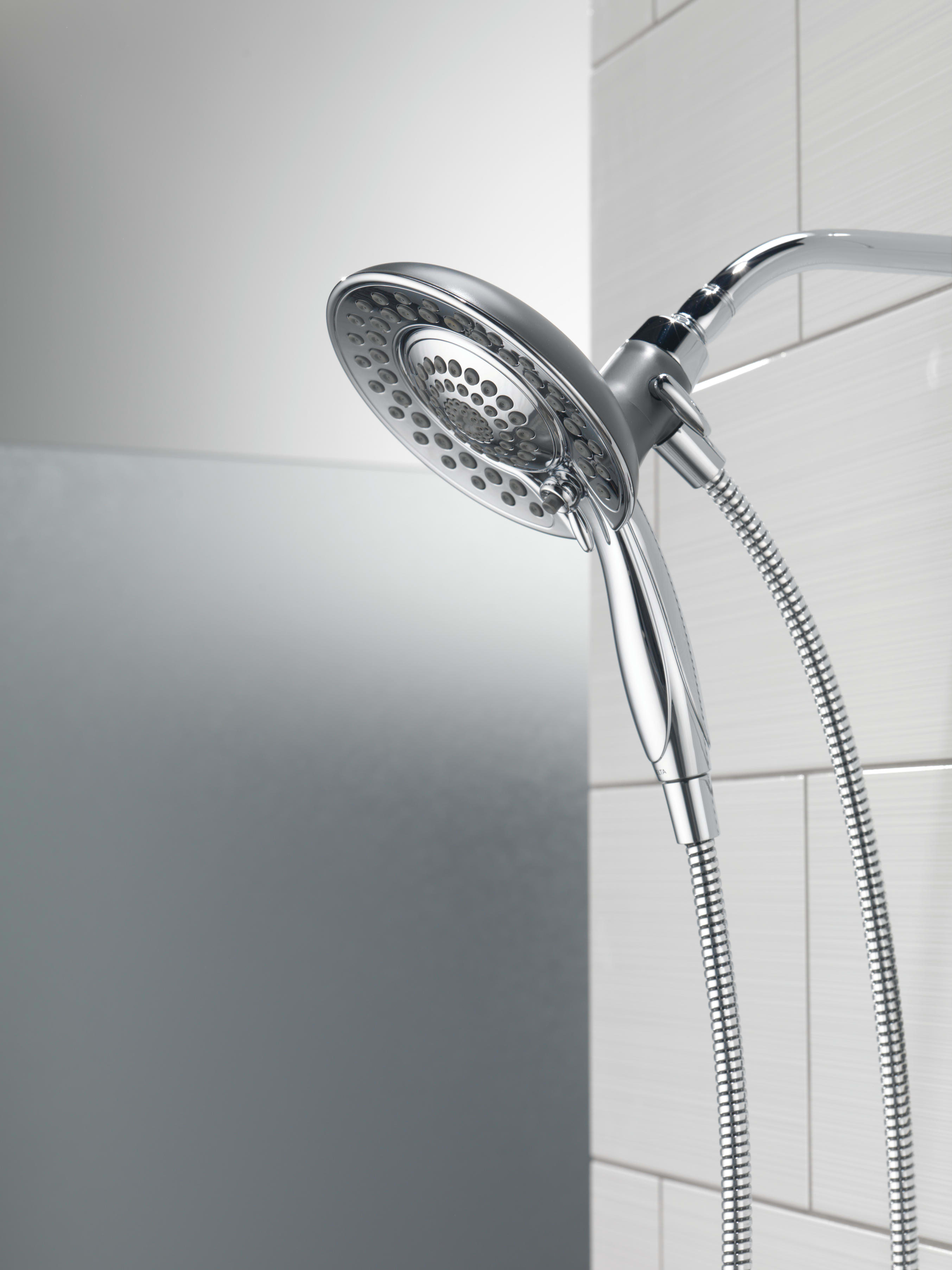 Delta 58045 Chrome In2ition 2-in-1 Shower Head and Hand Shower with ...