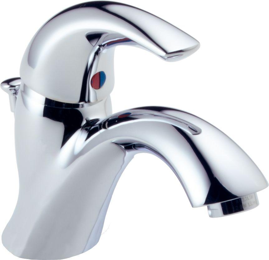 Delta 583LF-WF Chrome Cspout Single Hole Bathroom Faucet - Free Pop ...