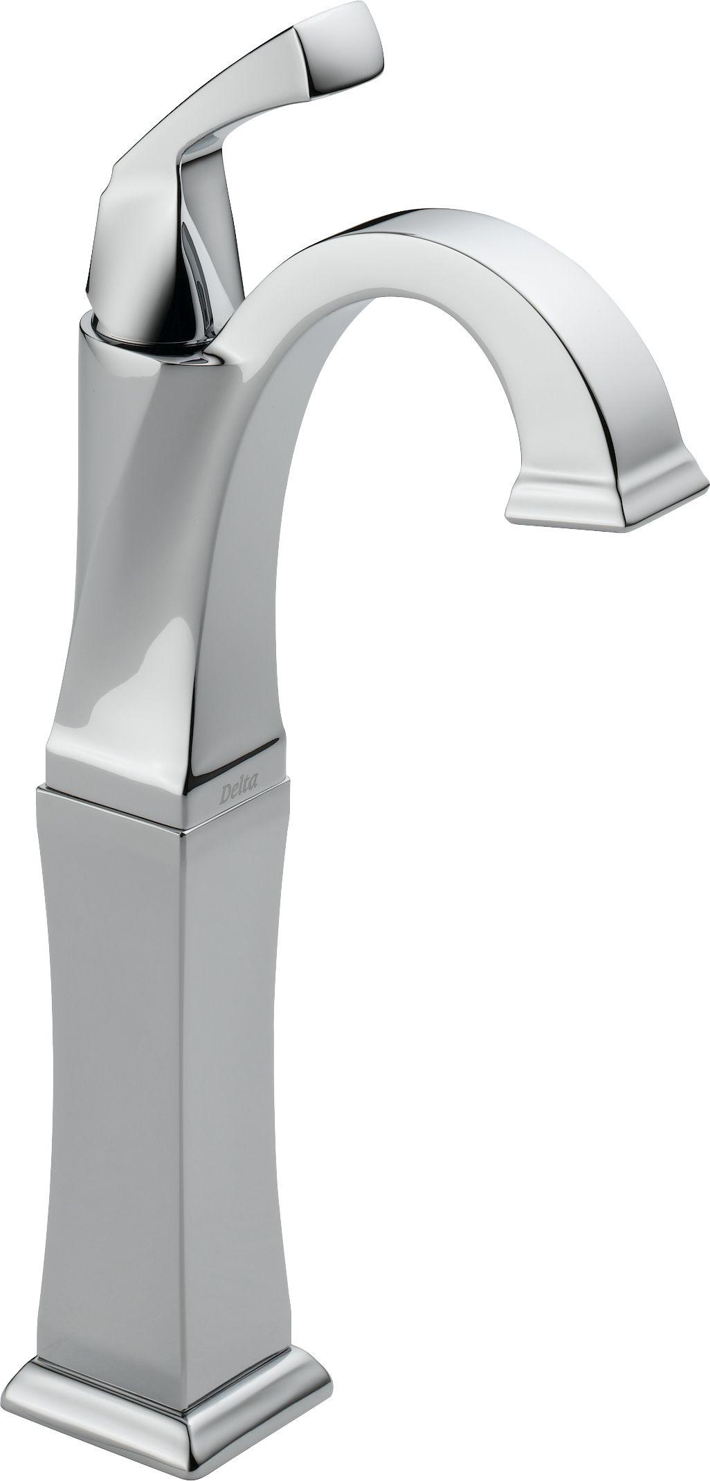 Delta 751-DST Chrome Dryden Single Hole Bathroom Faucet with Diamond ...