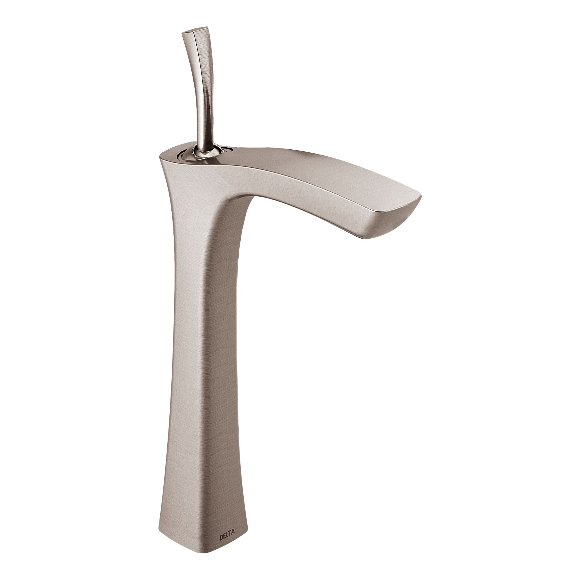 Delta 752LF SS Brilliance Stainless Tesla Vessel Bathroom Faucet   Includes  Lifetime Warranty   Less Drain Assembly   Faucet.com