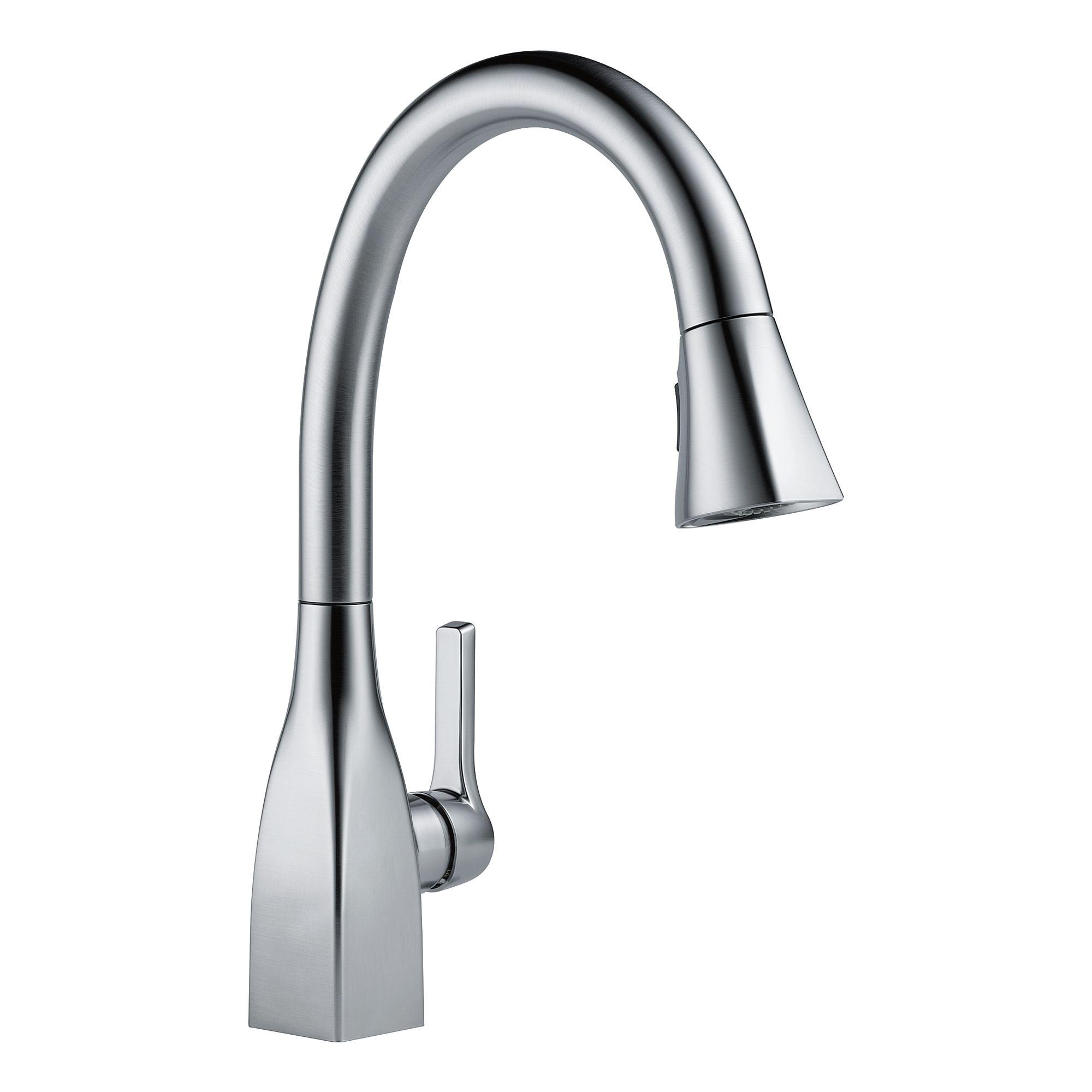 Delta Pull Out Kitchen Faucet Delta Magnatite Magnetic Docking Pull Out Kitchen Faucets