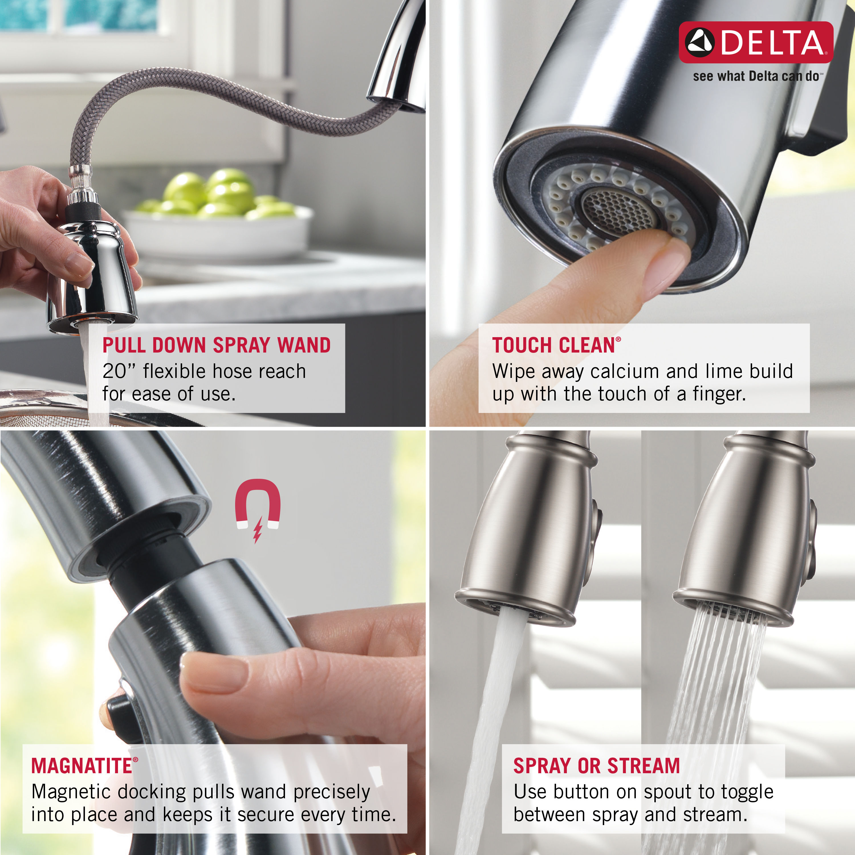 Delta 978 Ar Dst Arctic Stainless Leland Pull Down Kitchen Faucet