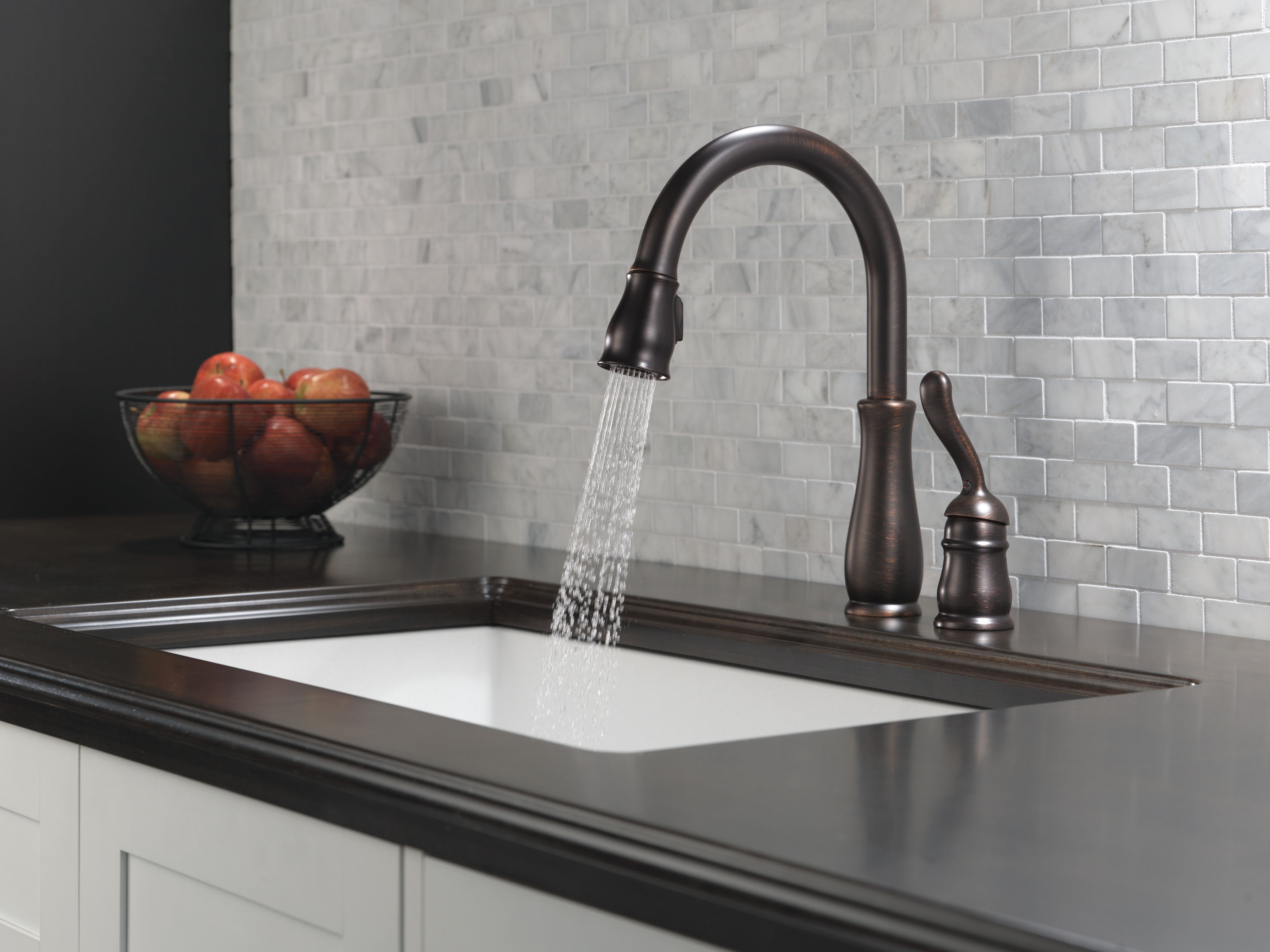 luxury faucets pull delta unique awesome bathroom padlords mount leland wall kitchen brass faucet bronze of down