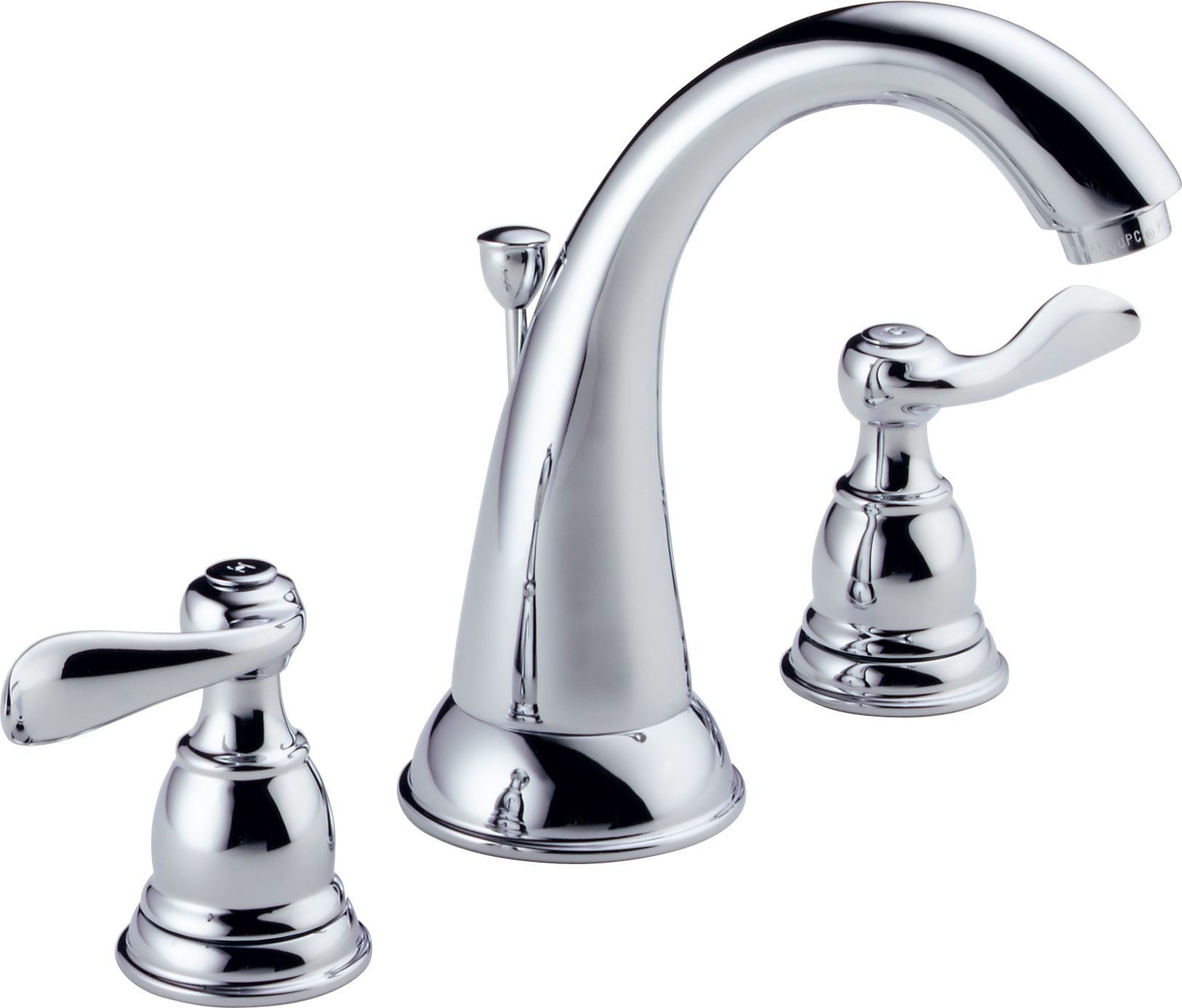 Delta B3596LF Chrome Windemere Widespread Bathroom Faucet with Pop ...
