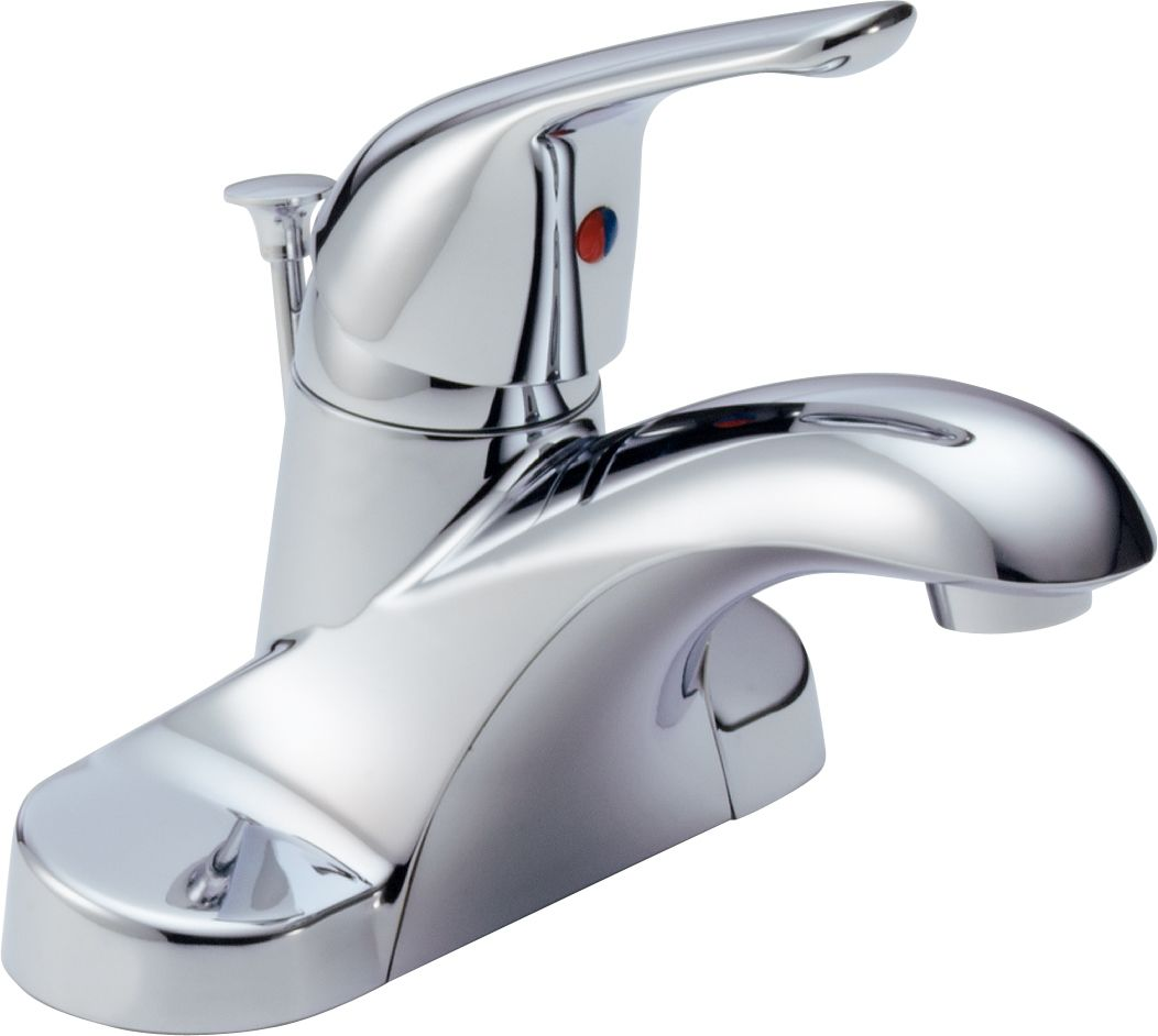 Delta B510LF Chrome Foundations Core-B Centerset Bathroom Faucet ...