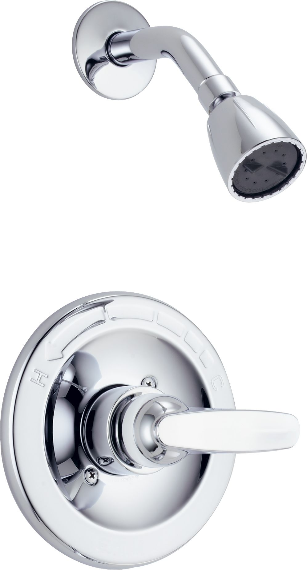 Delta Bt13210 Chrome Foundations Monitor 13 Series Single Function Pressure Balanced Shower Trim Package Less Rough In Valve Faucet