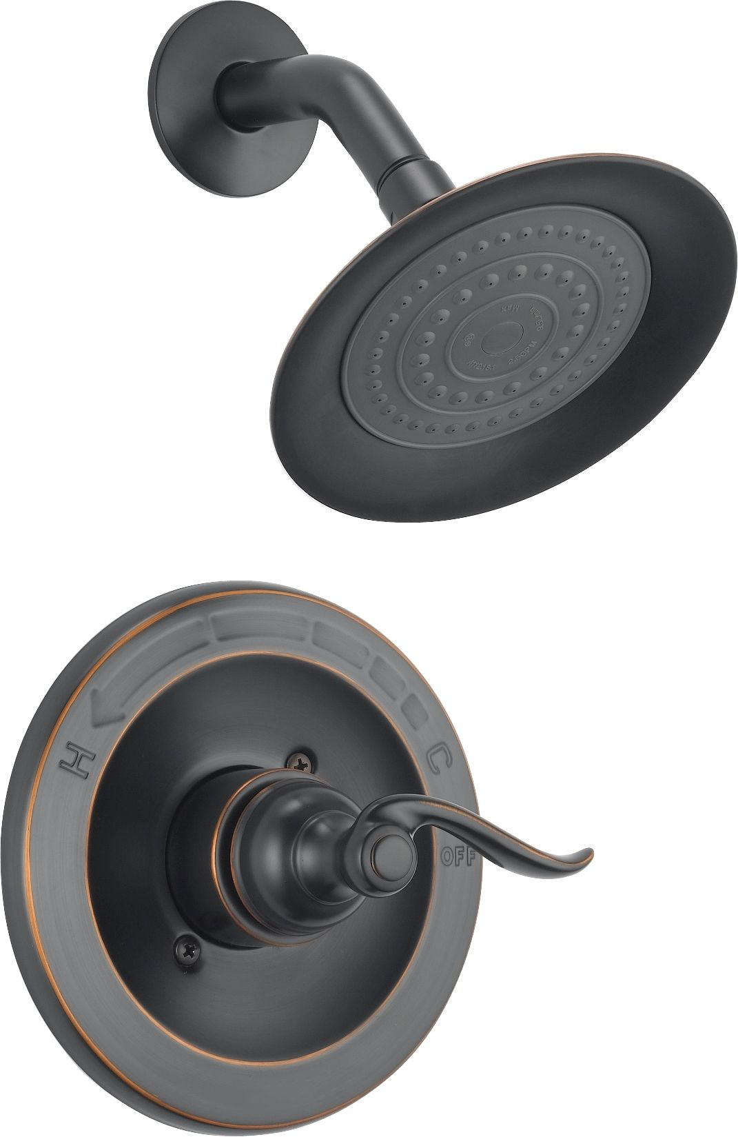 Delta BT14296 OB Oil Rubbed Bronze Windemere Monitor 14 Series Single  Function Pressure Balanced Shower Trim Package   Less Rough In Valve    Faucet.com
