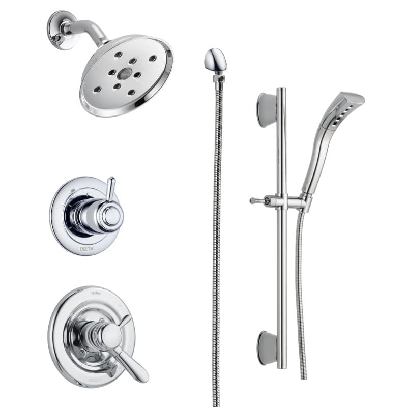 Delta DSS Lahara 1701 H2O Chrome Monitor 17 Series Dual Function Pressure  Balanced Shower System With Integrated Volume Control, Shower Head, ...