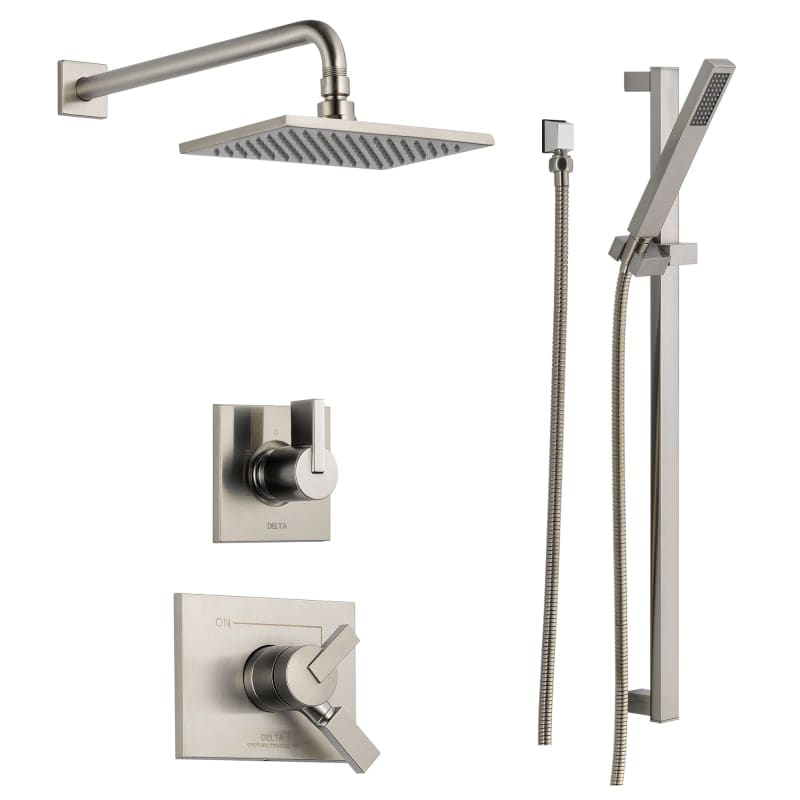 monitor 17 series dual function pressure balanced shower system with integrated volume control shower head