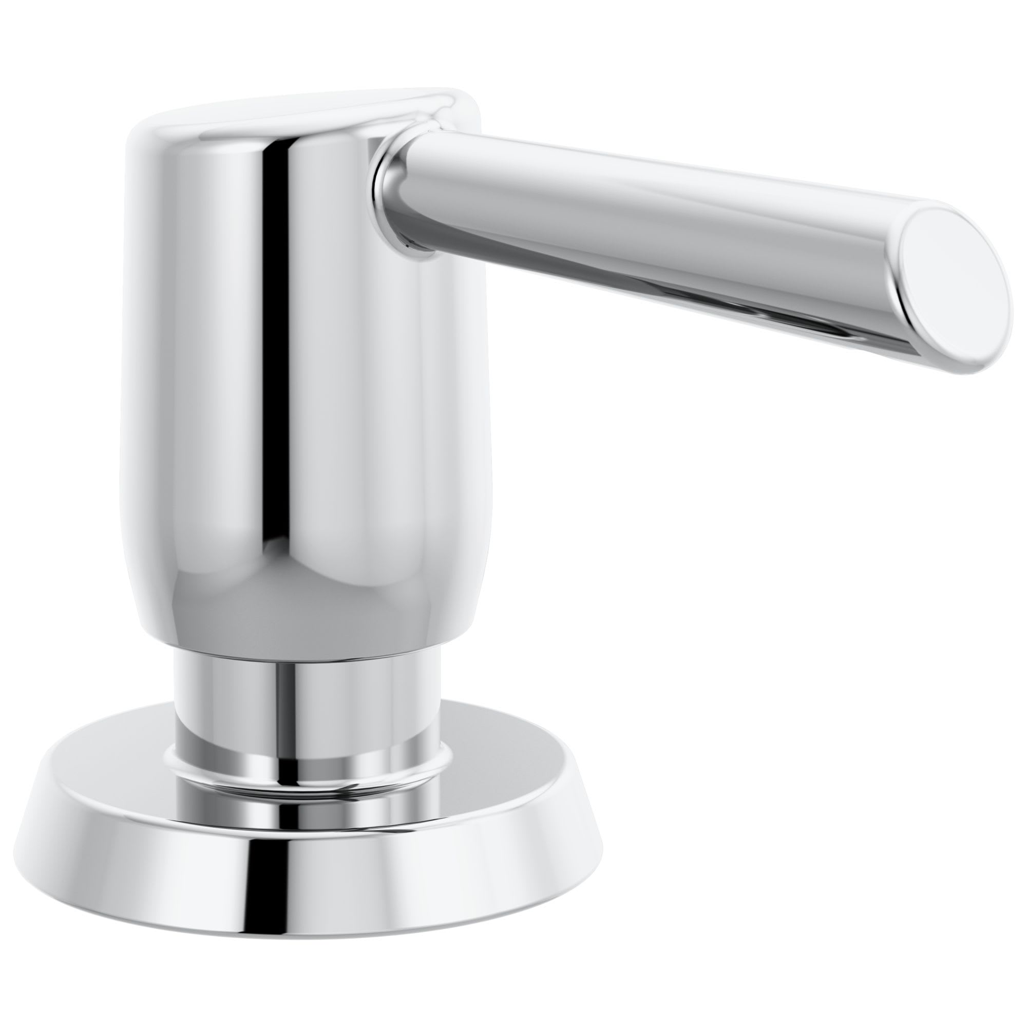 Delta Rp100736ar Arctic Stainless Essa Deck Mounted Soap Dispenser With Metal Head Faucetdirect Com