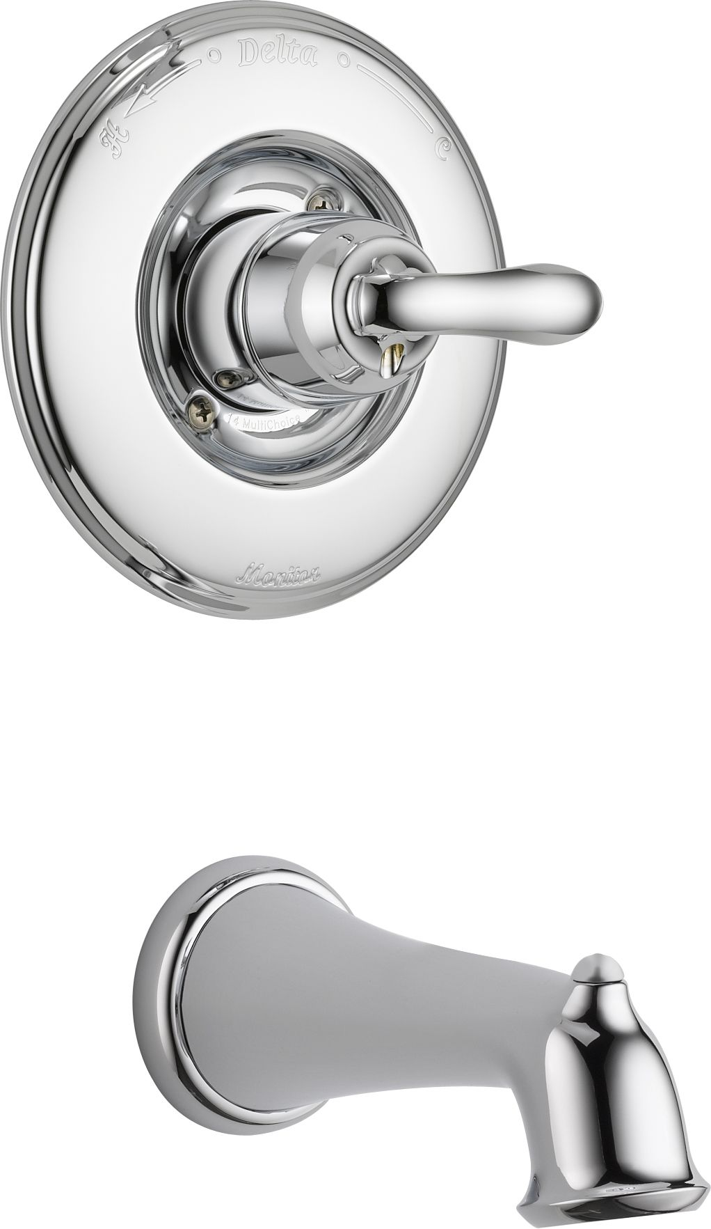 Delta T14194 Chrome Linden Monitor 14 Series Single Function Pressure  Balanced Wall Mounted Bathtub Faucet Only Trim Package   Less Rough In  Valve   Faucet. ...