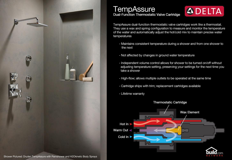 Delta T17T438 Chrome Lahara TempAssure 17T Series Dual Function ...