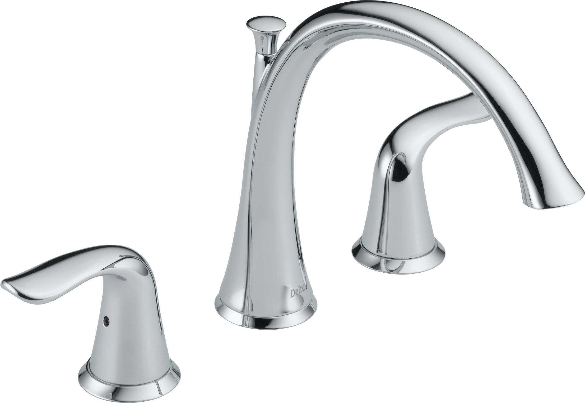 Delta T2738 Chrome Lahara Deck Mounted Roman Tub Filler Trim   Faucet.com