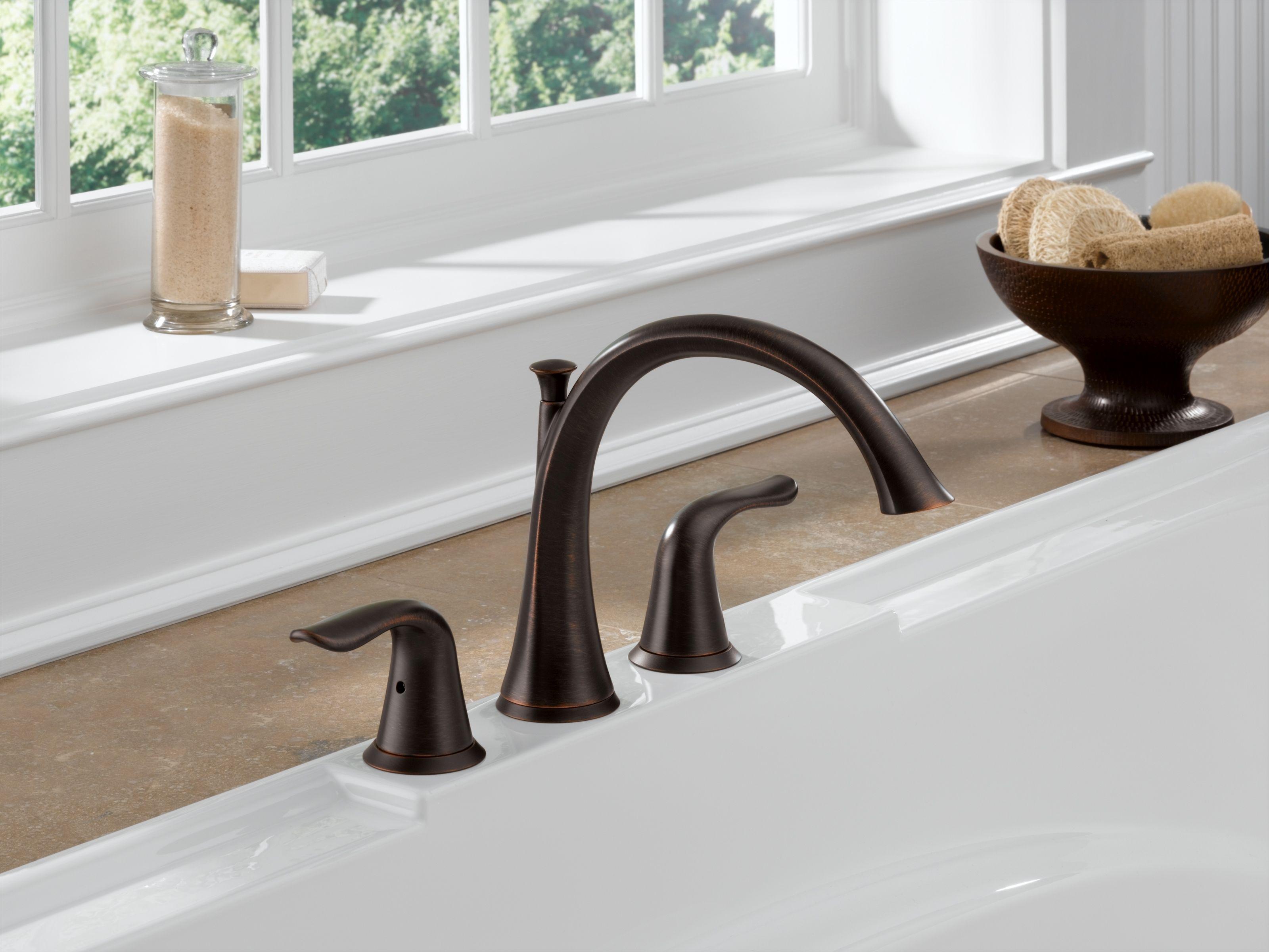 Delta T2738-RB Venetian Bronze Lahara Roman Tub Faucet Trim - Faucet.com
