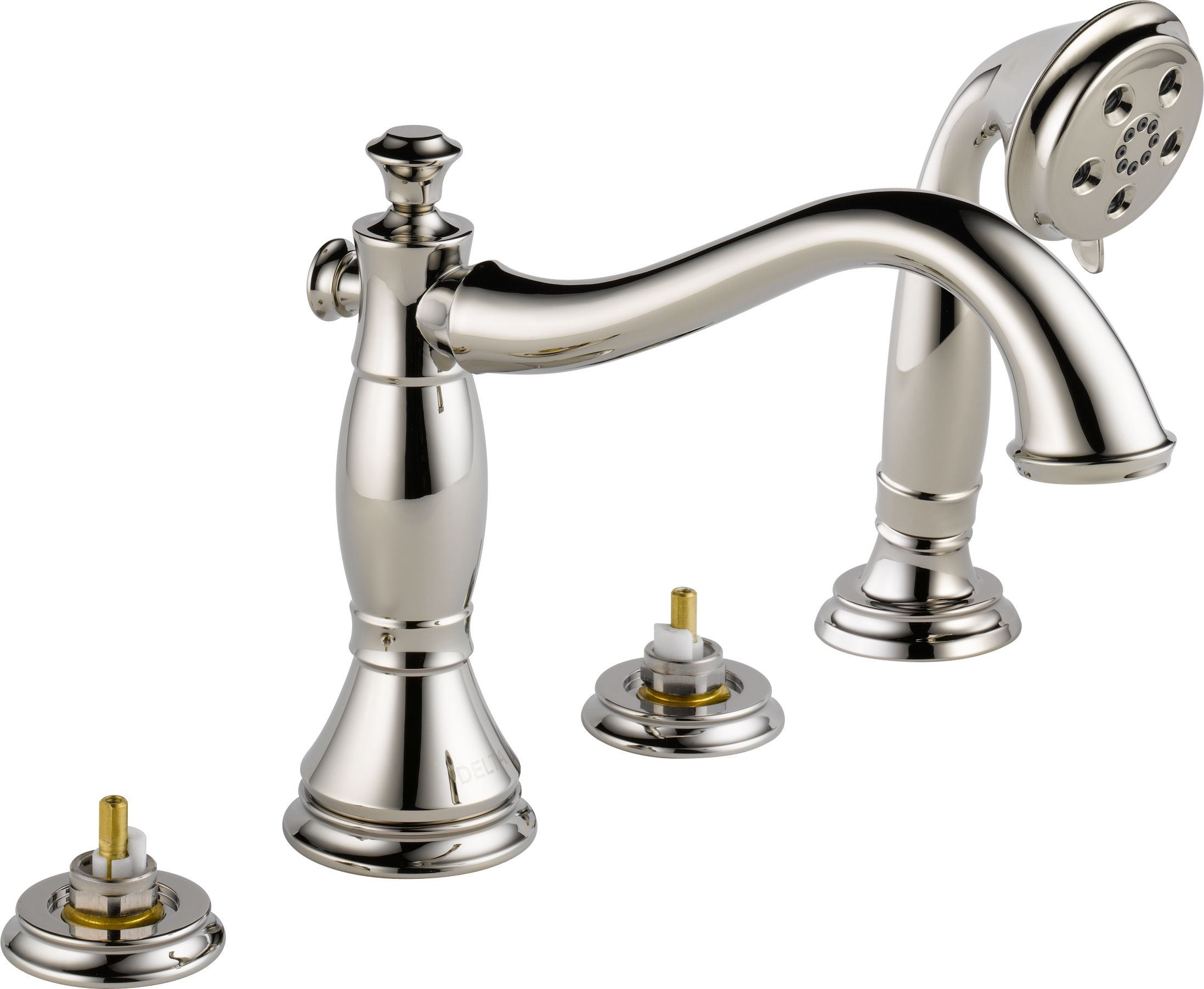 Delta T4797 Sslhp Brilliance Stainless Cassidy Roman Tub Faucet Trim At Our Kitchen Faucets Bathroom And Shower With Hand Handles Rough In Valve Sold Separately