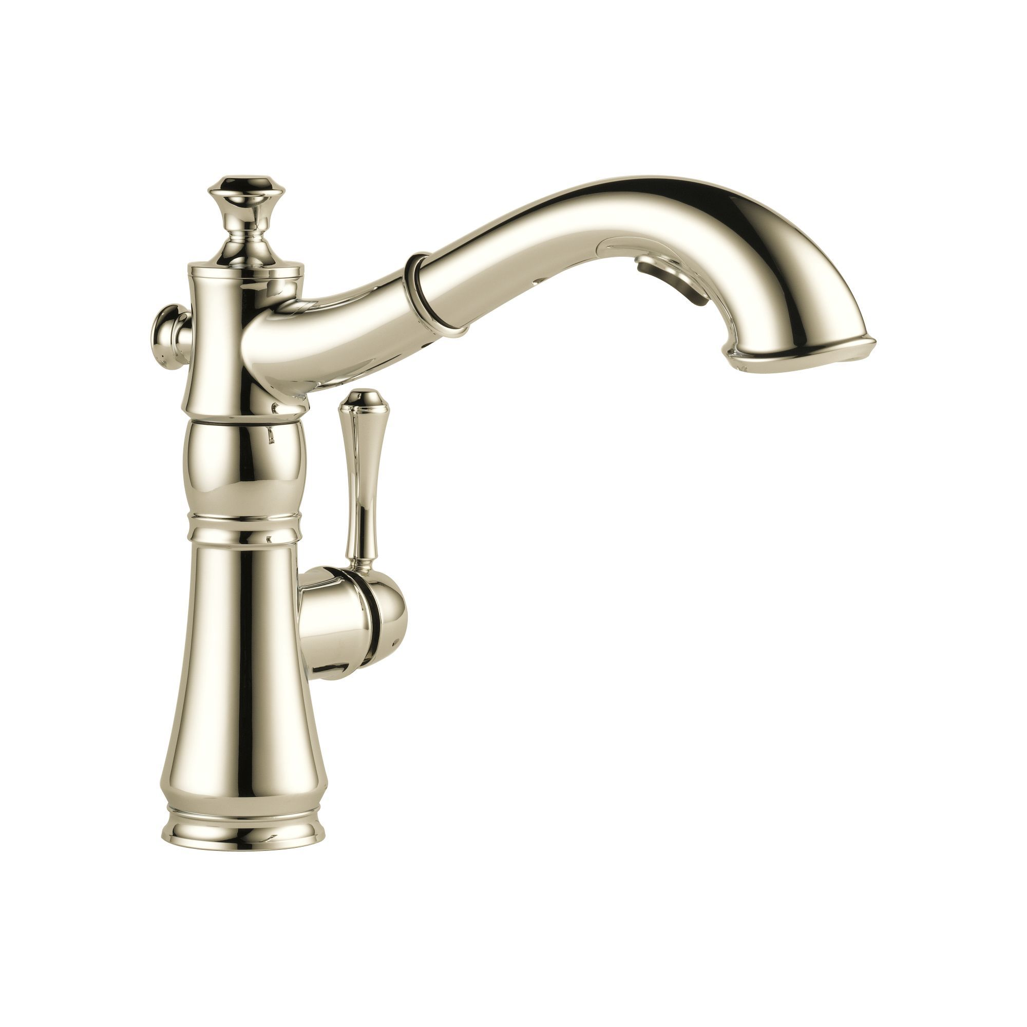 Delta PNDST Brilliance Polished Nickel Cassidy PullOut - Delta valdosta kitchen faucet