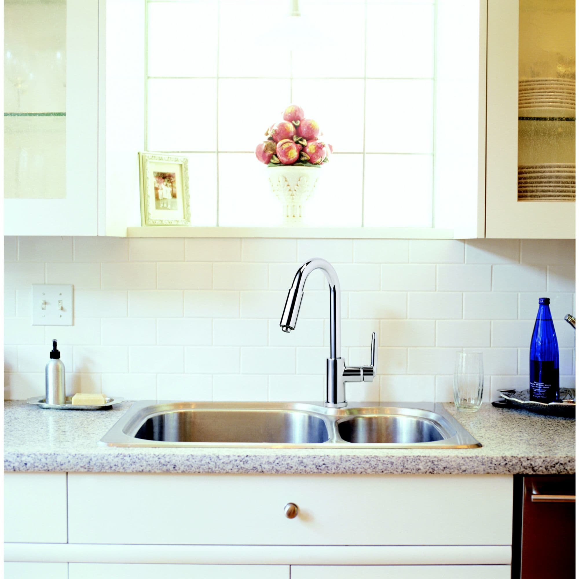 Delta 985LF-SS Brilliance Stainless Single Handle Kitchen Faucet ...
