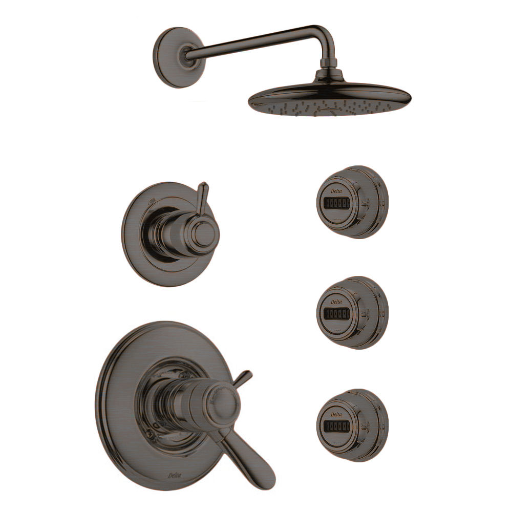 Delta Lahara TempAssure Shower Package SS Brilliance Stainless with ...