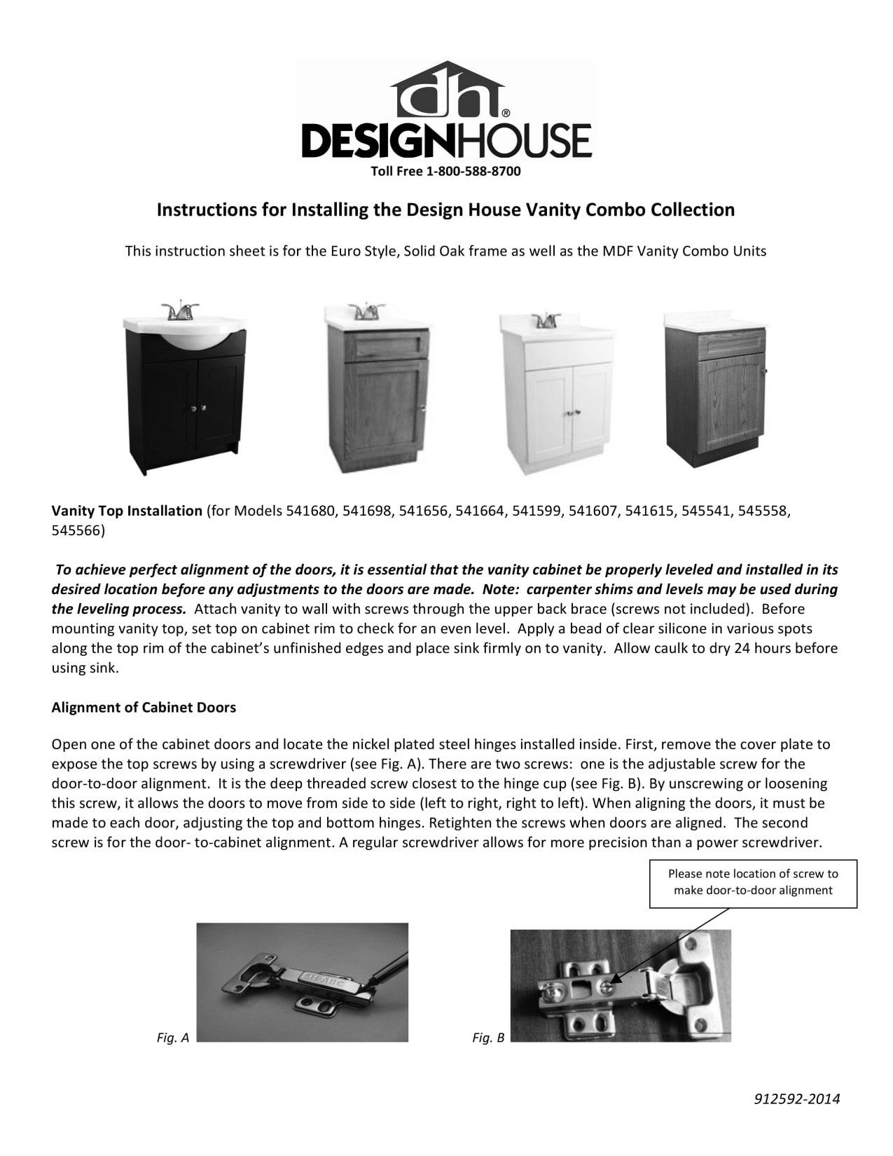 Bathroom Vanities Tools Home Improvement Design House 541607 Vanity Combo White Vanity Bathroom Cabinet With 2 Doors 25 Inch By 19 Inch By 31 5 Inch