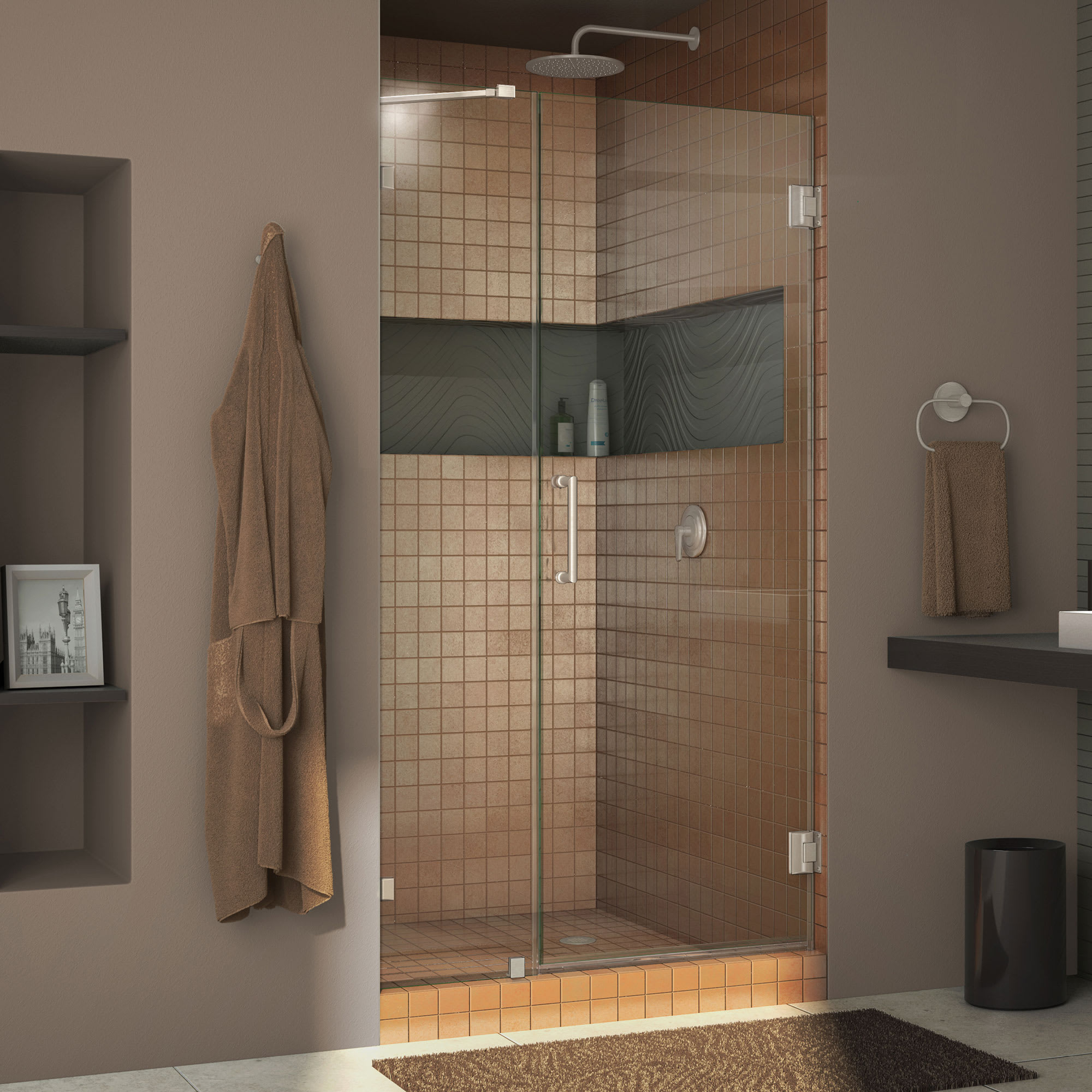 Dreamline Shdr 23397210 01 Chrome Unidoor Lux 72 High X 39 Wide Hinged Frameless Shower Door With Clear Glass Faucet Com