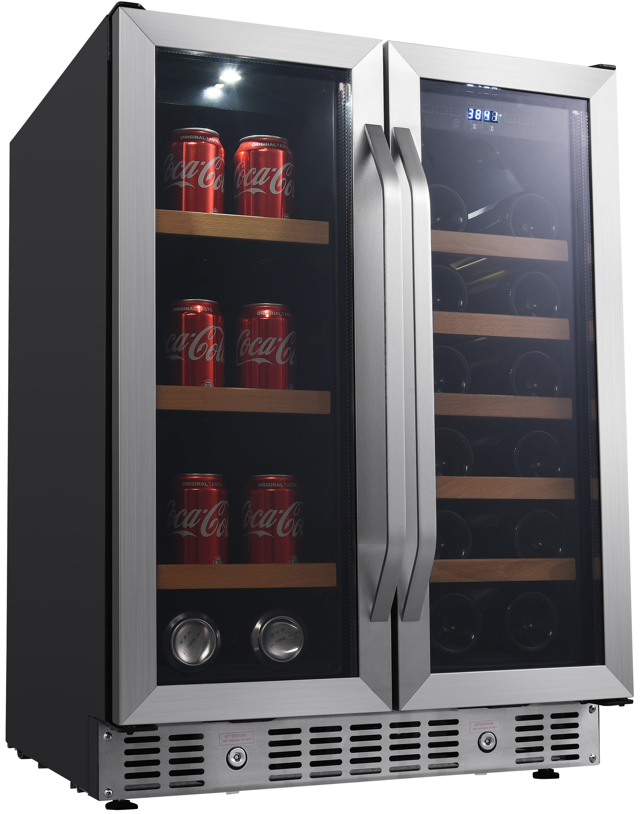 24 Inch Built In Wine And Beverage Cooler With French Doors Cwb1760fd