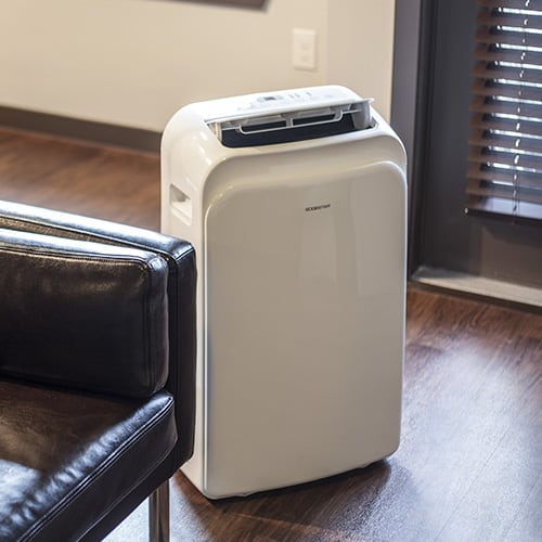 Large Room 115V Portable Air Conditioner With Dehumidifier, Window Mounting  Kit And Remote Control