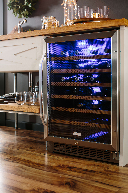 Edgestar Wine Cooler Reviews Edgestar 53 Bottle Builtin Wine Cooler  Cwr531Sz