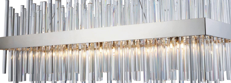 """Elegant Lighting 6G6C Chrome Dallas 6 Light 6"""" Wide Linear ...   3000g36c"""