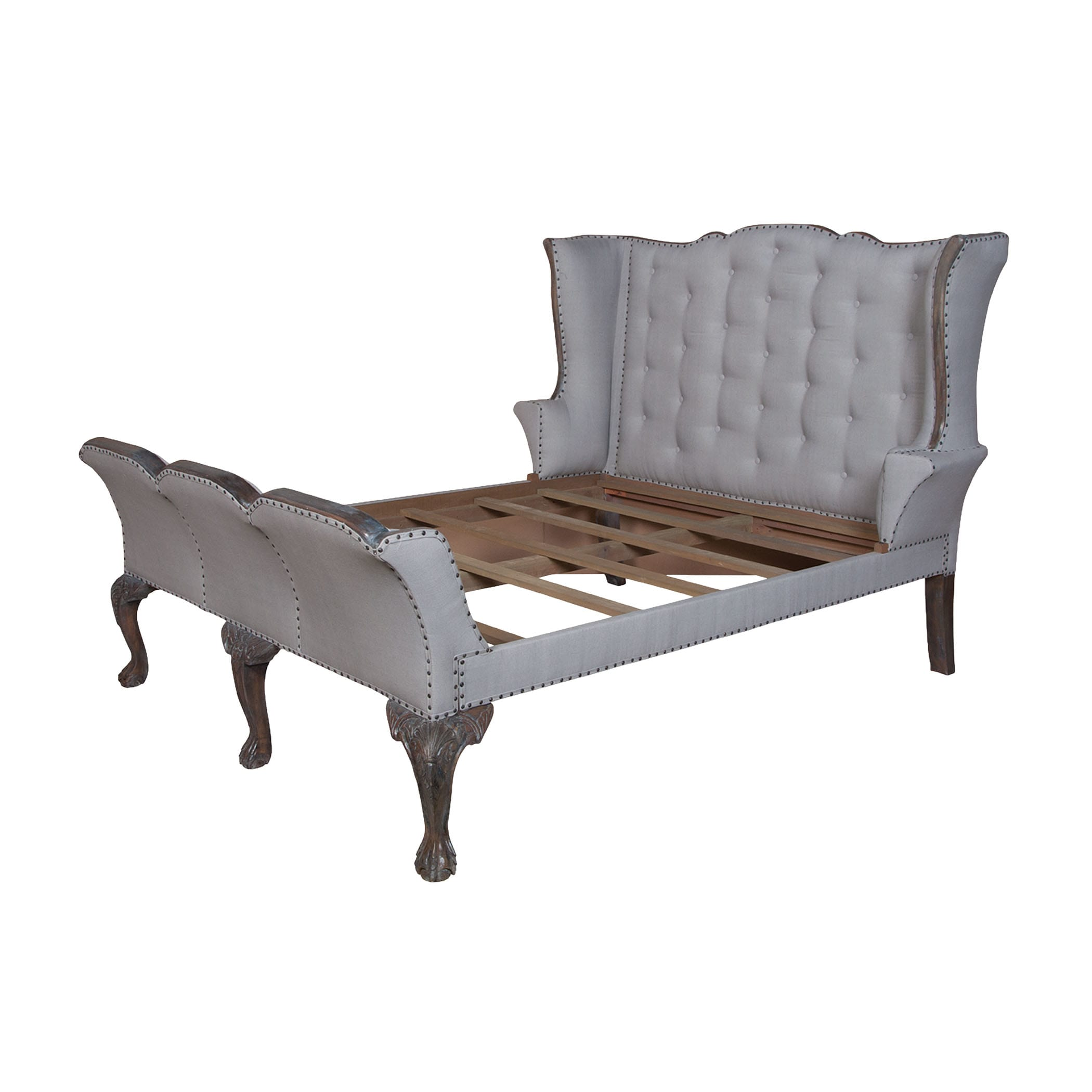 Elk Home 953503 Heritage Dark Gray Stain Heritage Queen Mahogany Sleigh Bed Frame Lightingdirect Com