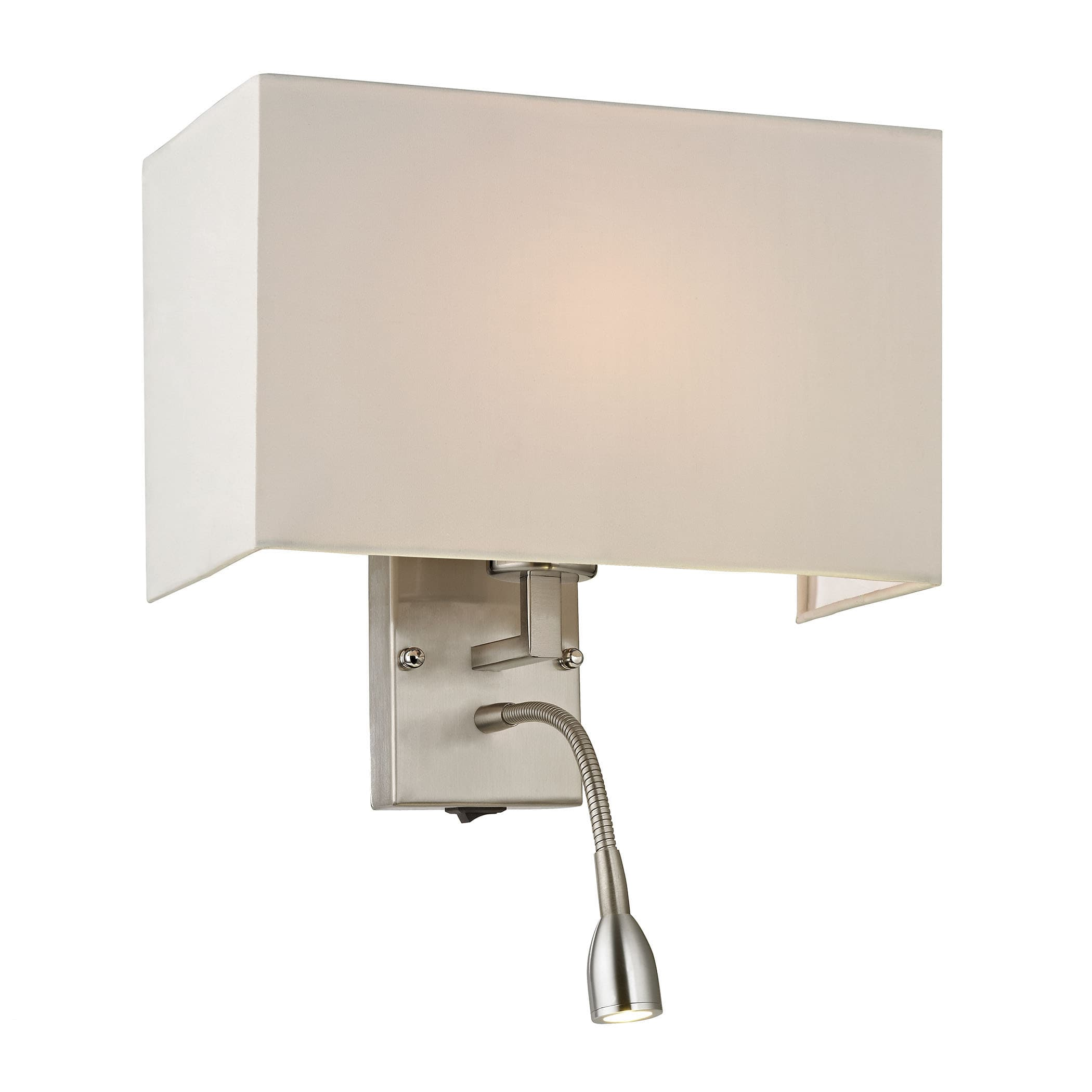 Image of: Elk Lighting 17154 2 Led Brushed Nickel Dixon 2 Light Led Wall Sconce Lightingdirect Com