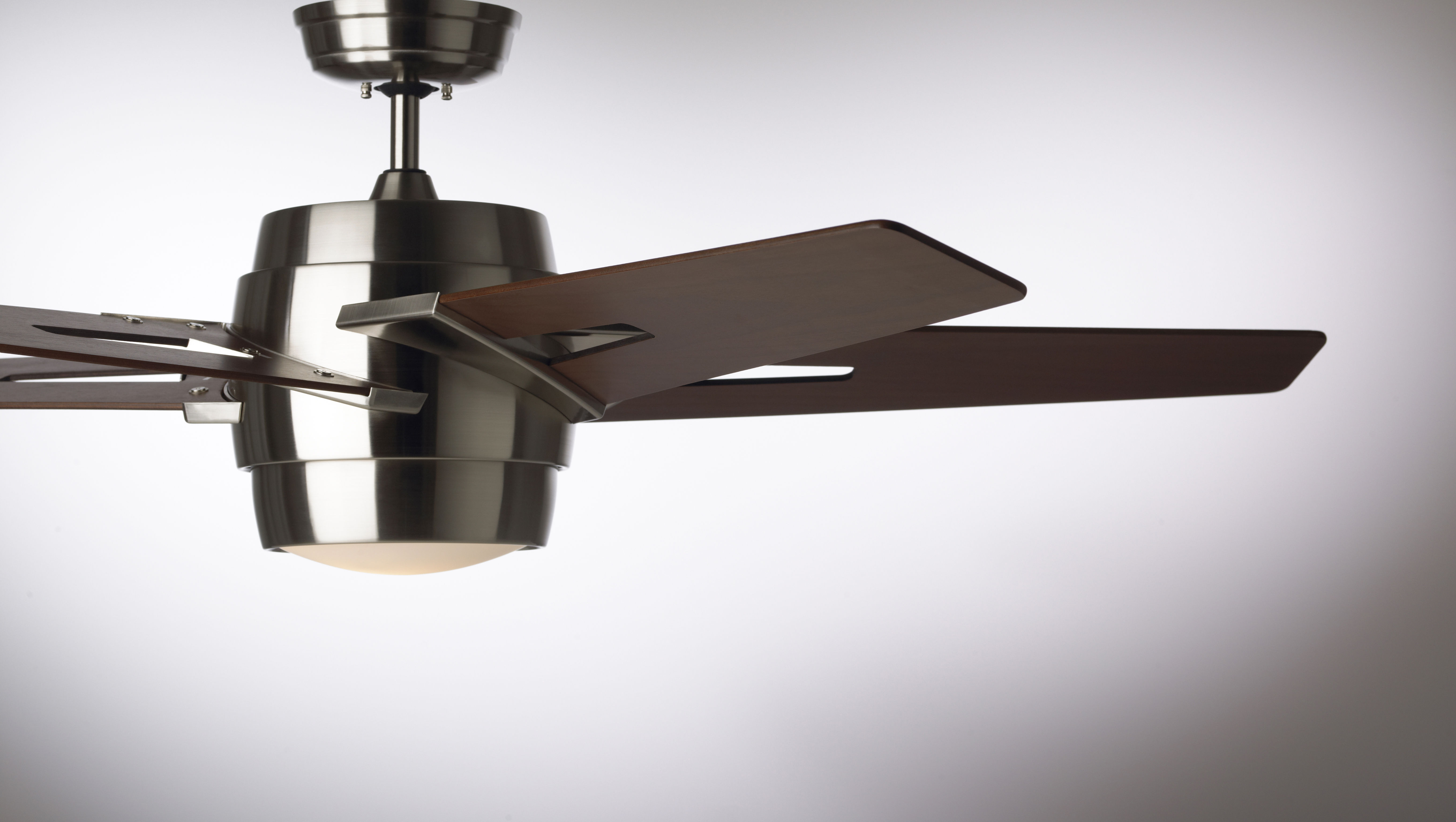 Emerson Cf550wabs Brushed Steel Luxe Eco 54 5 Blade Ceiling Fan Blades And Light Kit Included Lightingdirect Com