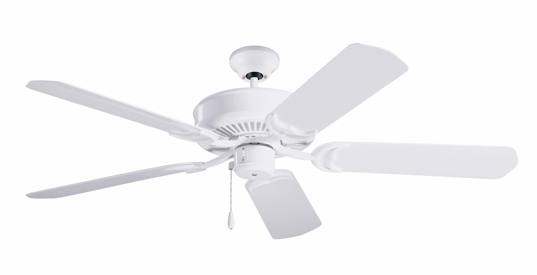 "Emerson CF654WW Appliance White Sea Breeze 52"" 5 Blade Indoor"