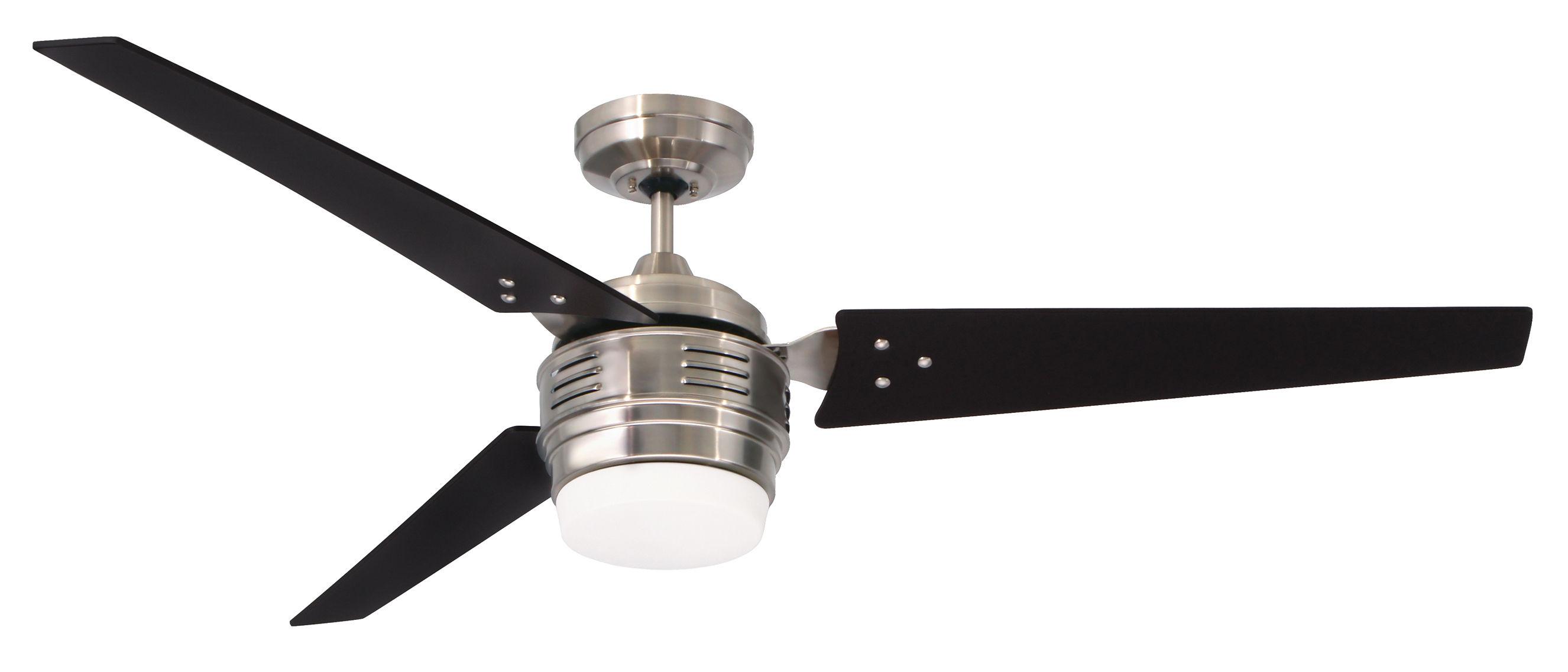 "Emerson CF766SW Satin White 4th Avenue 60"" 3 Blade Ceiling Fan"