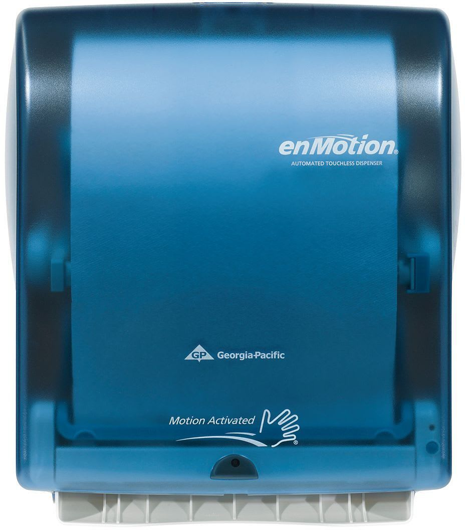 Georgia Pacific 59460 Splash Blue Enmotion Wall Mounted Automated Touchless Towel Dispenser Faucet Com