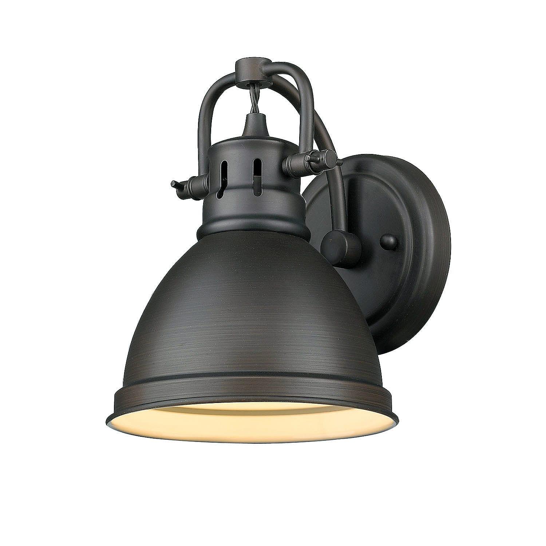 Golden Lighting 3602 BA1 RBZ RBZ Rubbed Bronze Duncan 1 Light