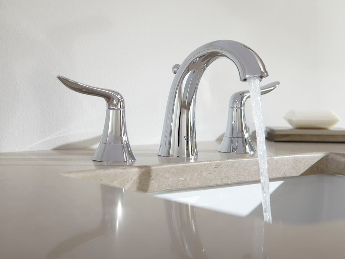 Grohe 20425EN0 Brushed Nickel Agira Widespread Bathroom Faucet with ...