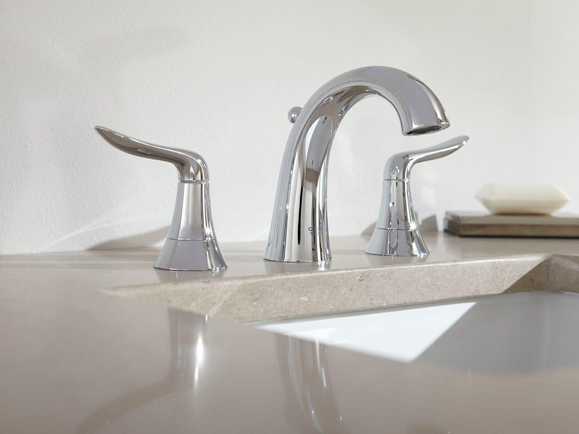 Grohe 20425000 Starlight Chrome Agira Widespread Bathroom Faucet ...
