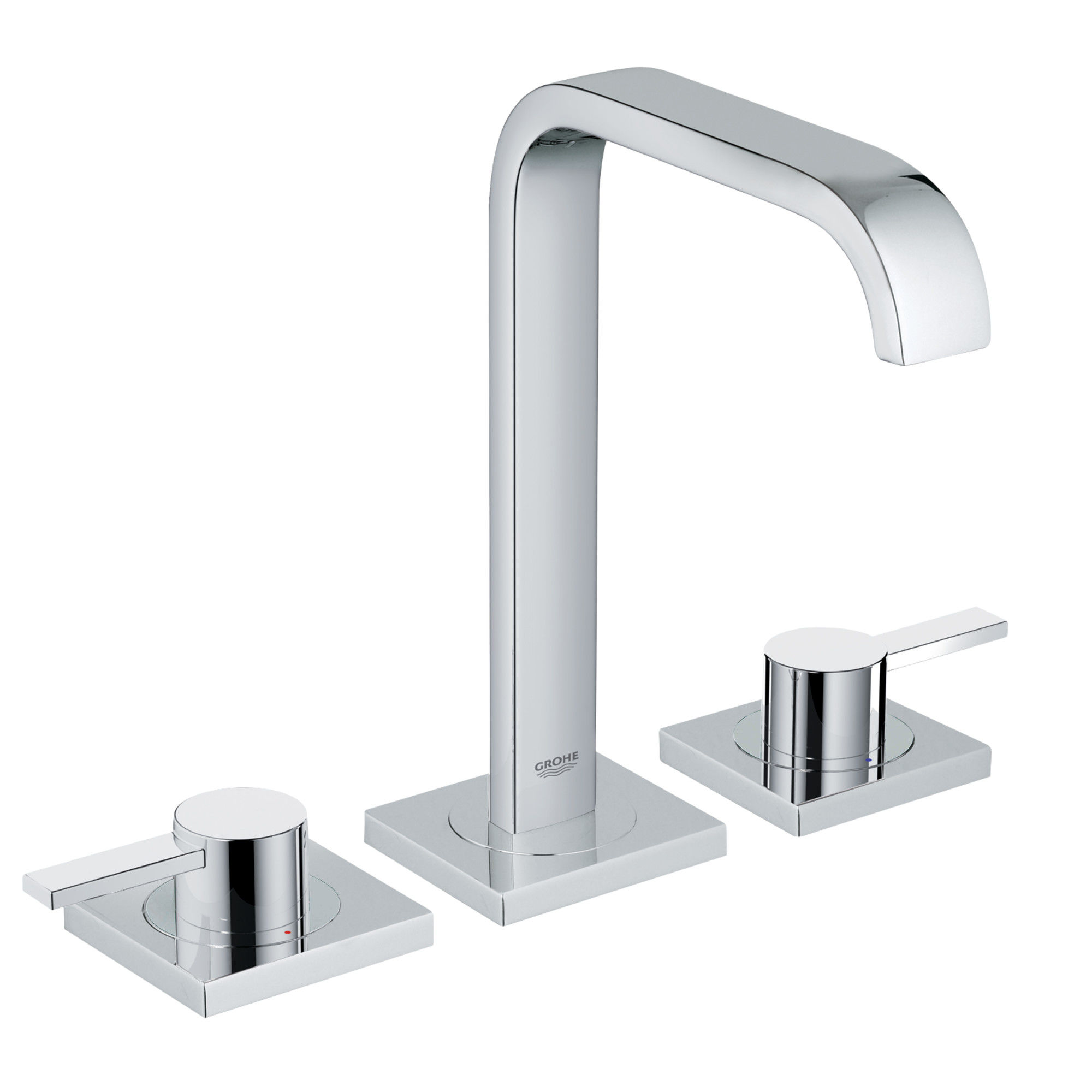 Ordinaire Grohe 2019100A Starlight Chrome Allure 1.2 GPM Widespread Bathroom Faucet  With SilkMove Technology   Free Metal Pop Up Drain Assembly With Purchase  ...