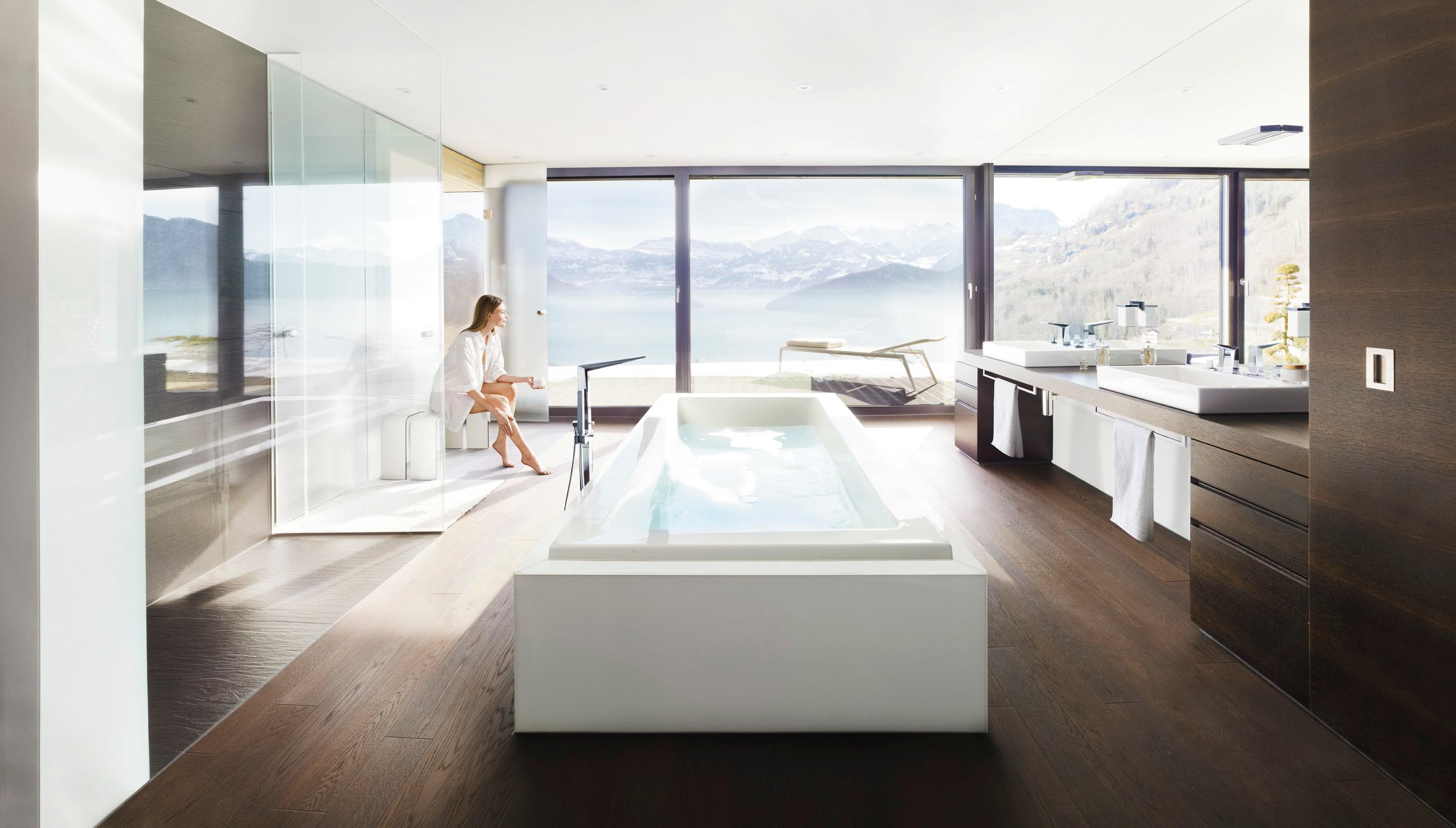 Grohe 23119000 Starlight Chrome Allure Brilliant Tub Filler Floor ...
