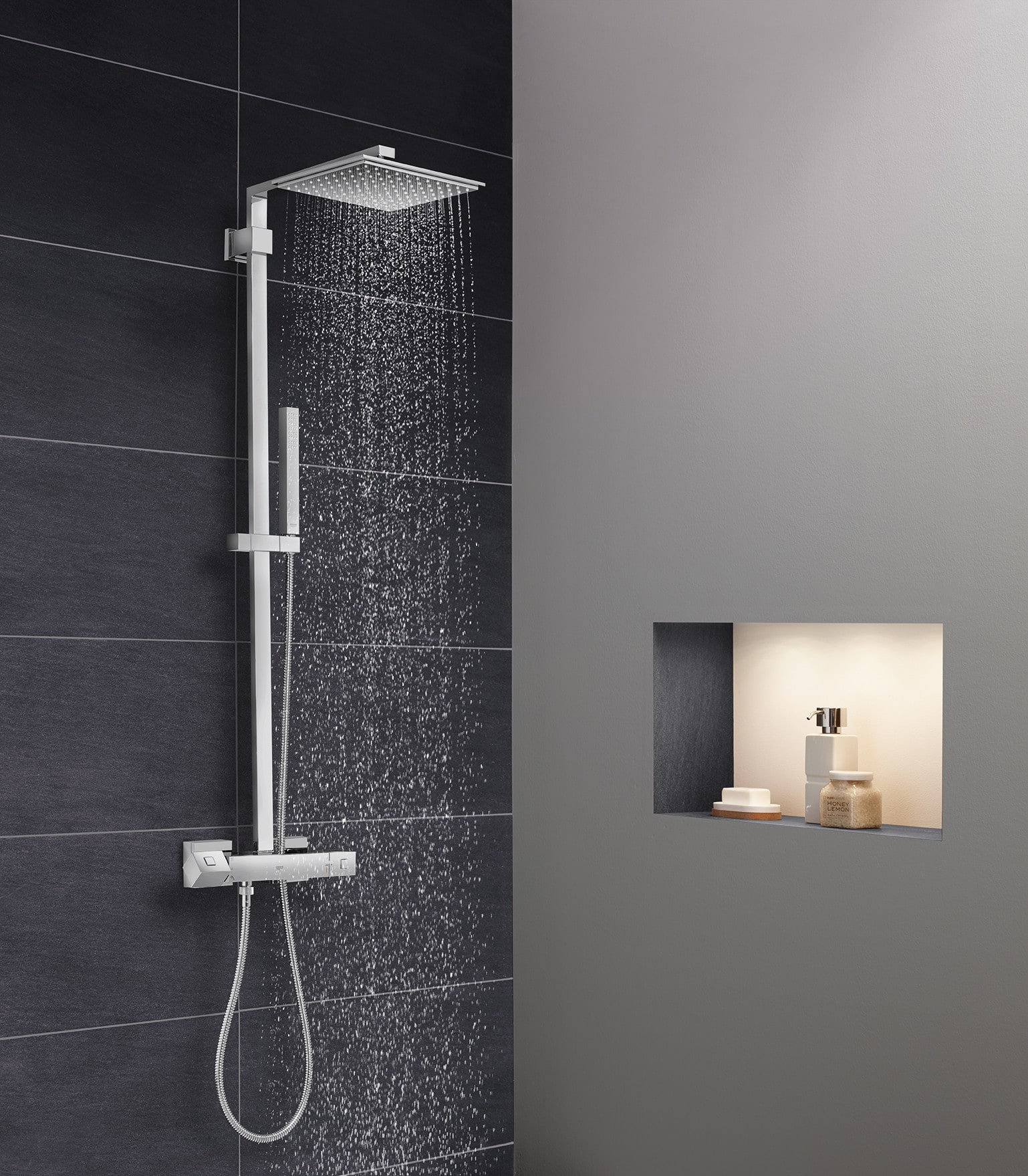 Grohe 26420000 Starlight Chrome Euphoria Cube Double Handle ...