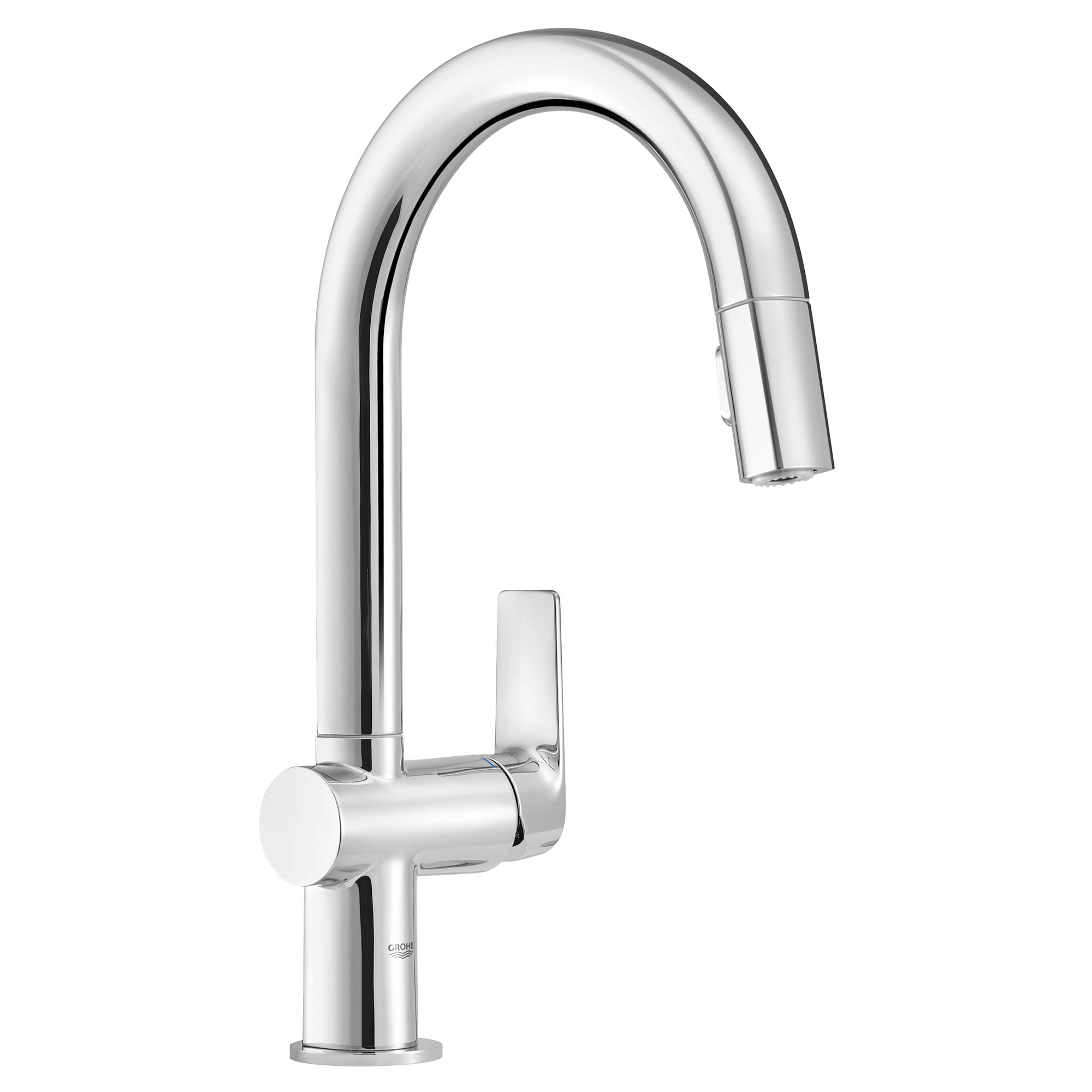 Grohe 30377000fc Starlight Chrome Defined Pull Down Kitchen Faucet And Foot Control Adapter Kit Combo With 2 Function Toggle Sprayer Faucetdirect Com