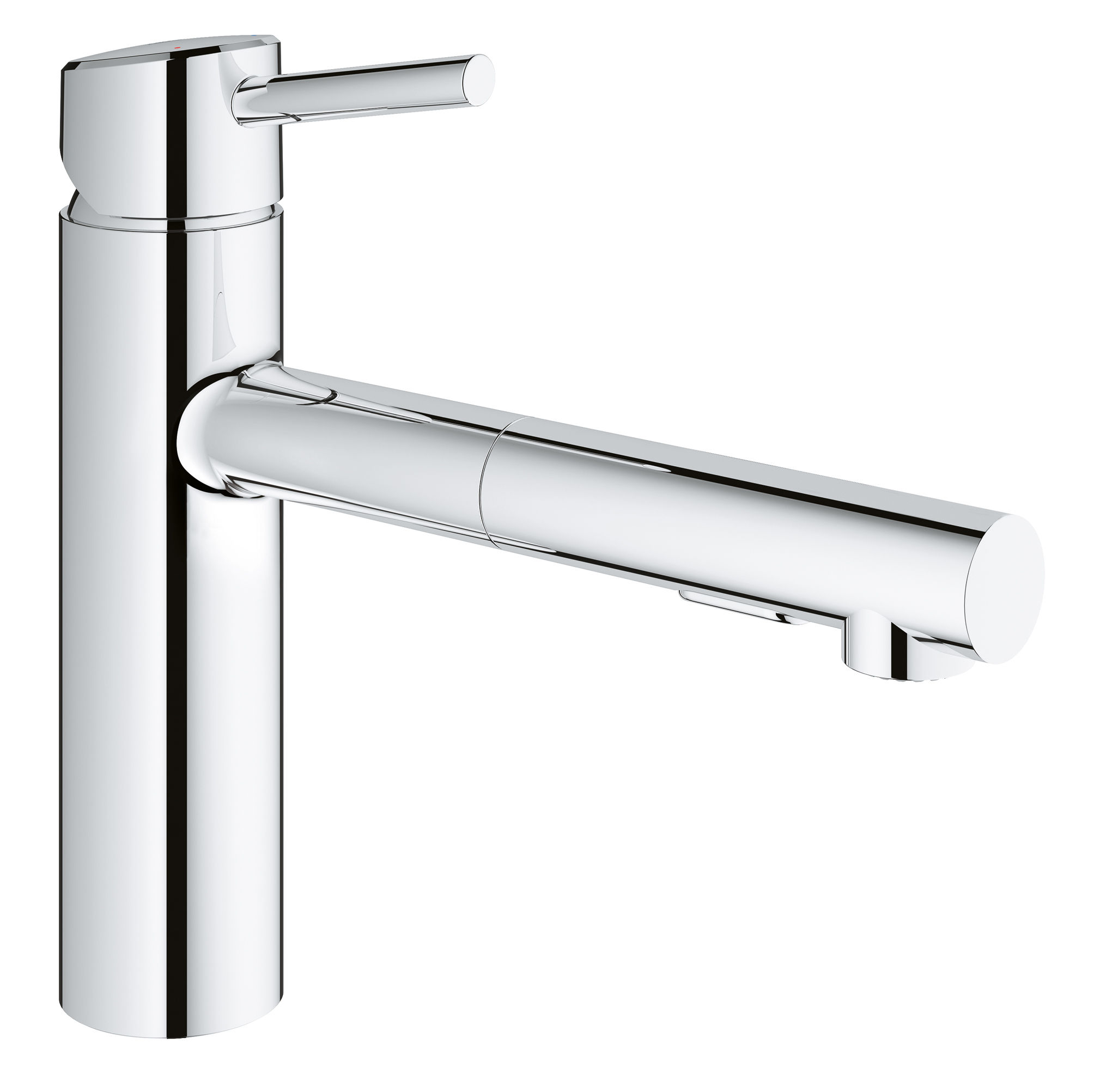 Grohe 31453001 Starlight Chrome Concetto Pull-Out Kitchen Faucet ...