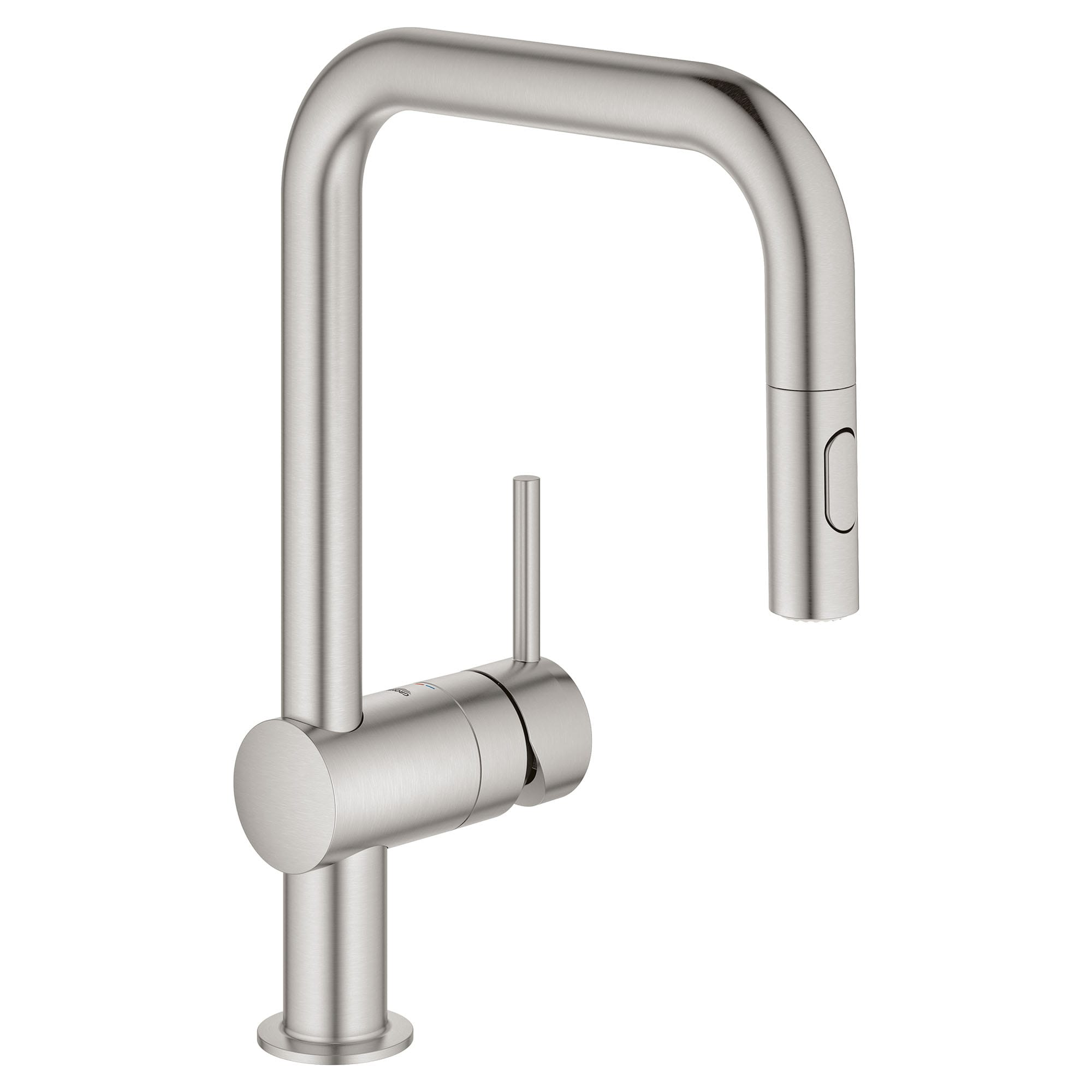 Grohe 32319dc3 Supersteel Minta 1 75 Gpm Single Hole Pull Down Kitchen Faucet Faucetdirect Com