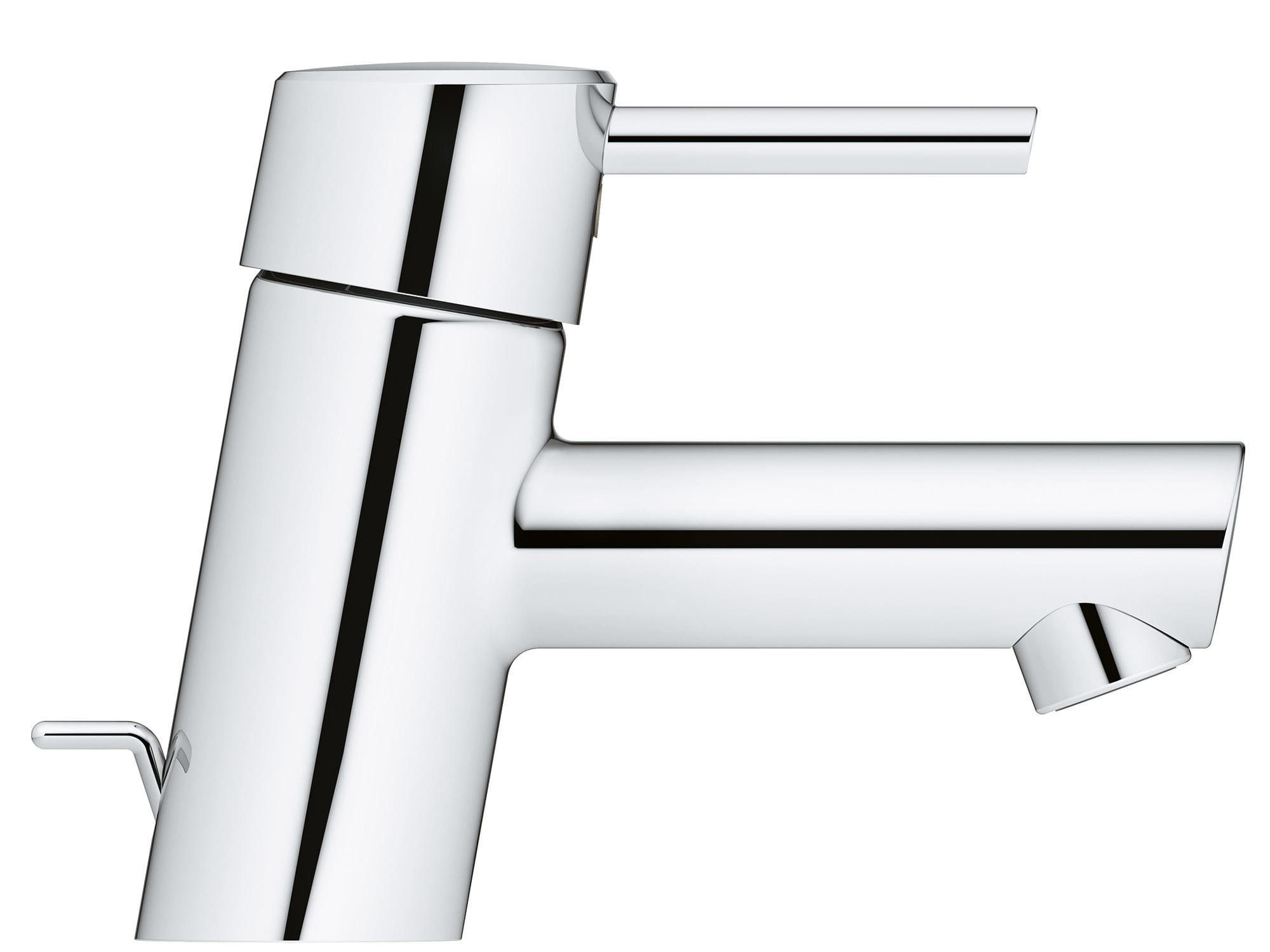 Grohe 34702EN1 Brushed Nickel Concetto 1.2 GPM Single Hole Bathroom ...